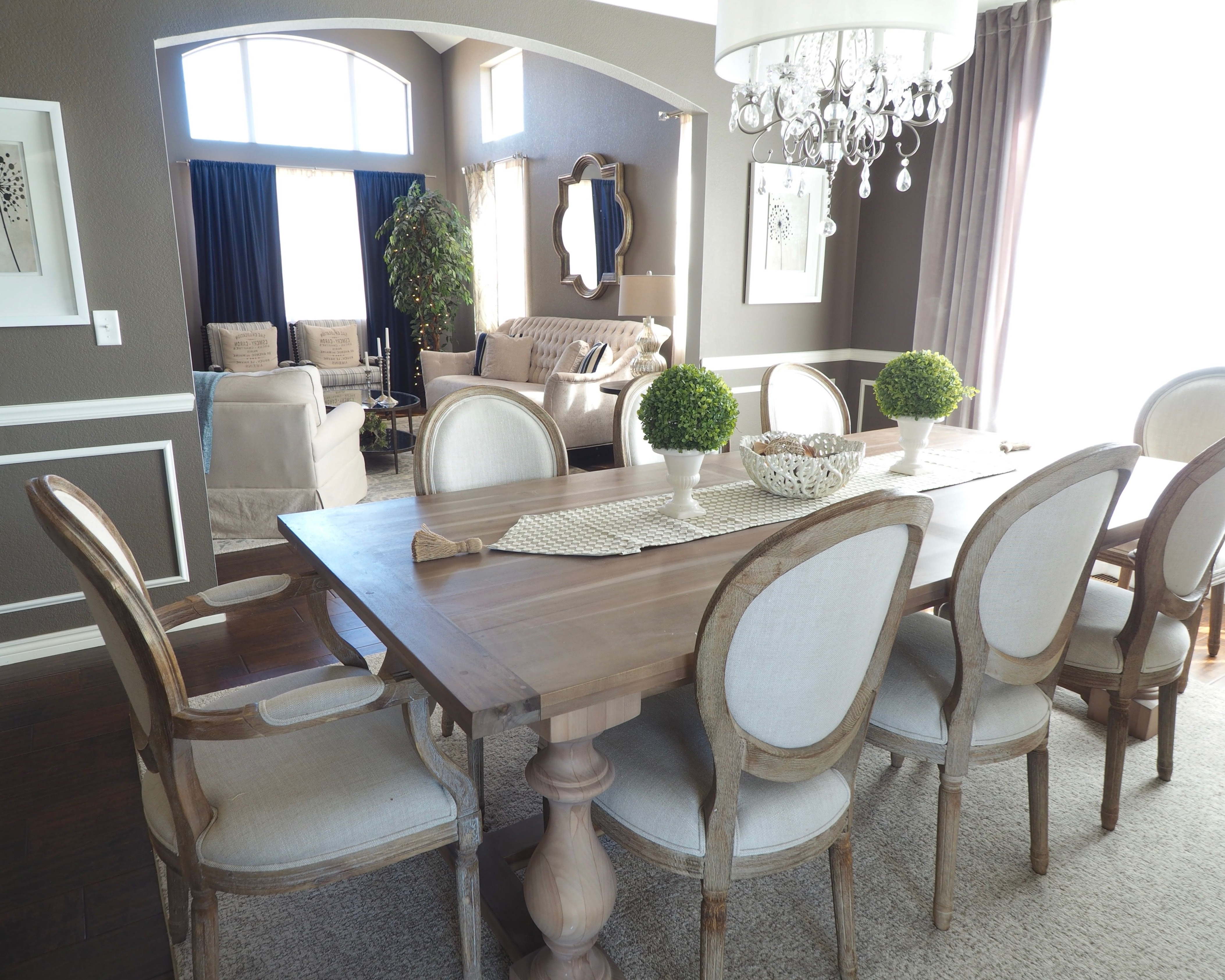 Glam Dining Room Vintage Dining Room – Rustic Dining Room Intended For 2017 Caira 9 Piece Extension Dining Sets With Diamond Back Chairs (View 7 of 25)