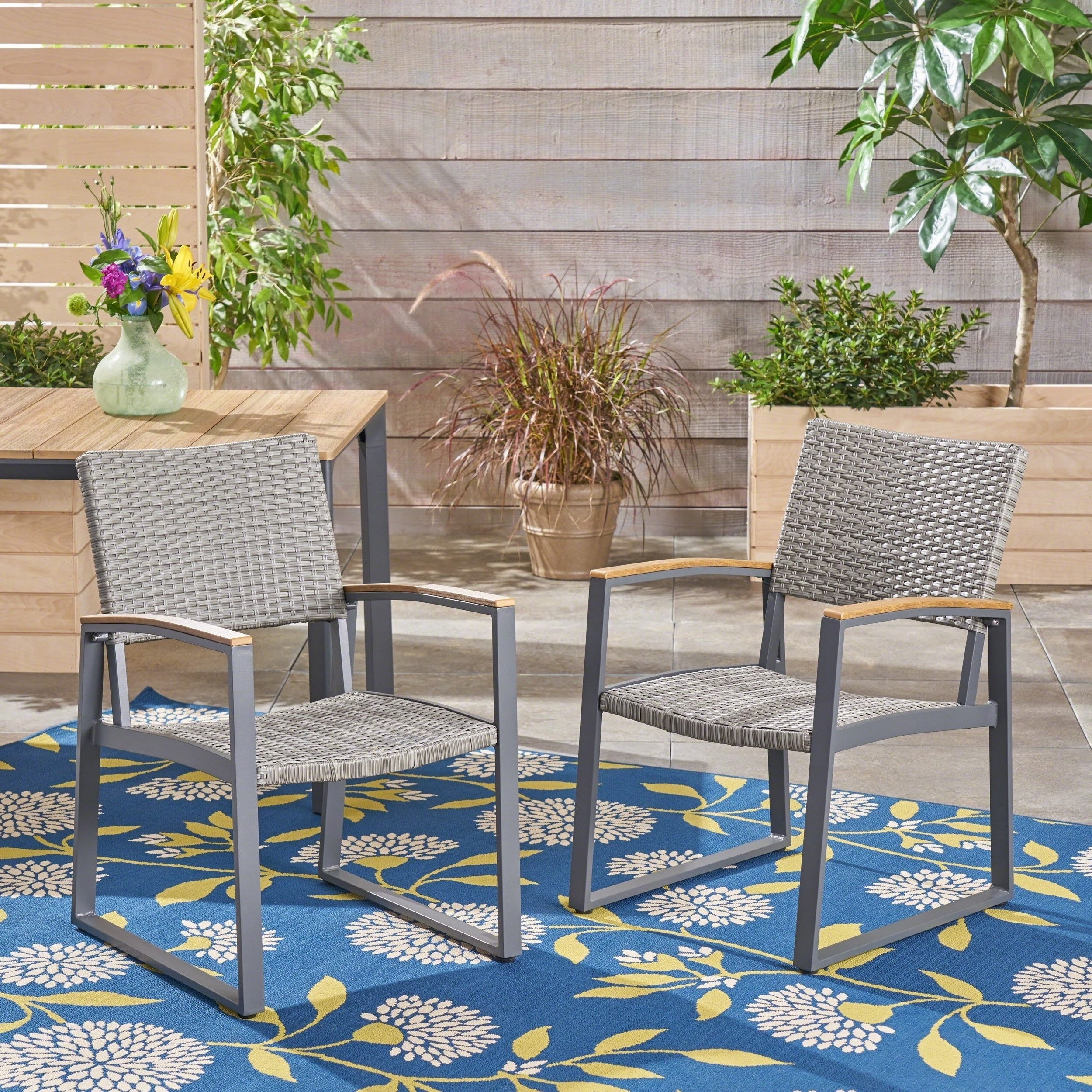 Glasgow Dining Sets In 2017 Shop Glasgow Outdoor Dining Chairs With Aluminum Frame (Set Of 2) (Gallery 11 of 25)