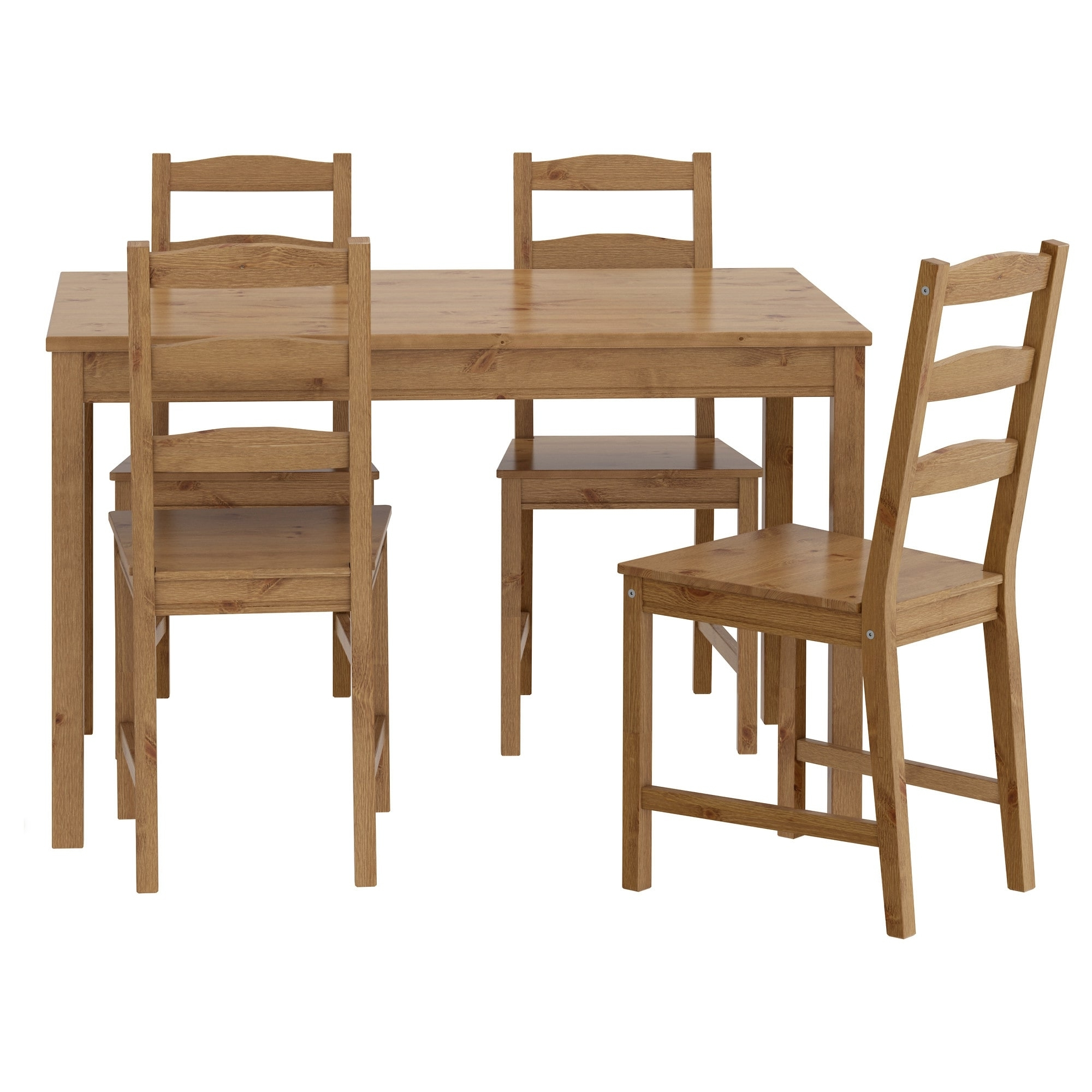Glasgow Dining Sets inside Newest Jokkmokk Table And 4 Chairs Antique Stain - Ikea