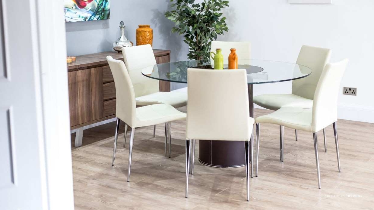 Glass 6 Seater Dining Tables In Well Known Imágenes De Round Glass Dining Table For  (View 7 of 25)