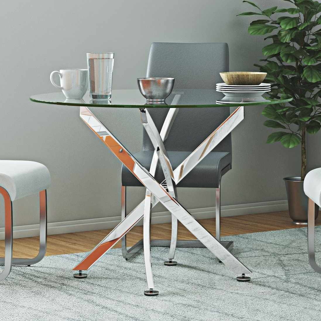 Glass And Acrylic Dining Tables (View 15 of 25)