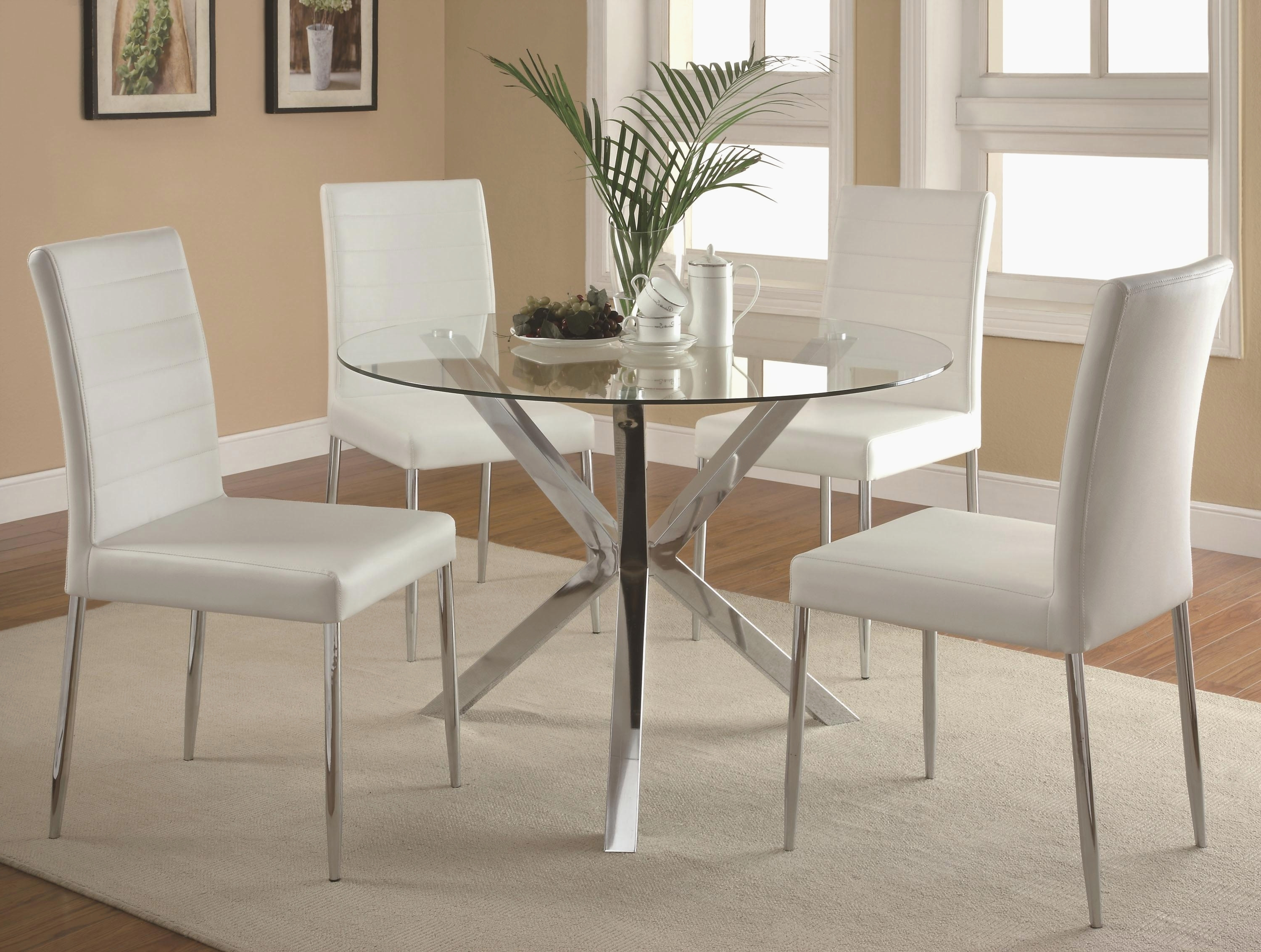 Glass And Chrome Dining Table Diy Dining Table Chairs Hd Cute Home Regarding Trendy Chrome Dining Room Sets (View 15 of 25)