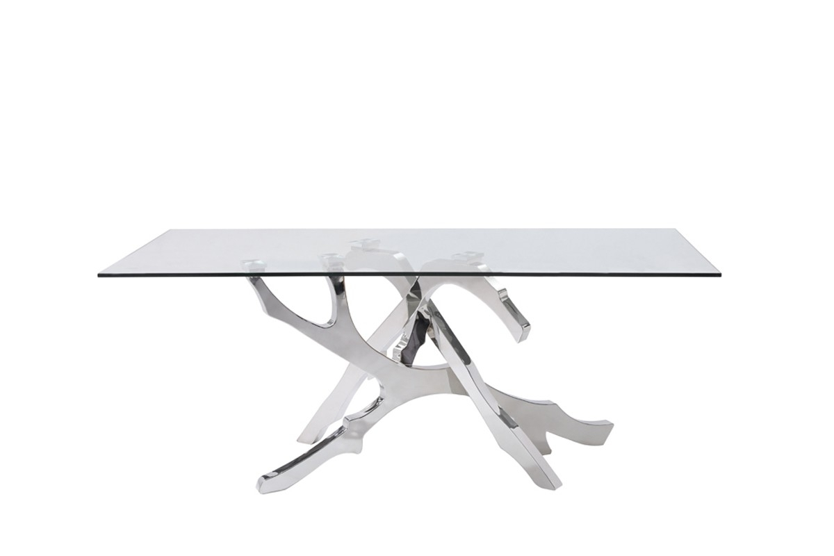 Glass And Stainless Steel Dining Tables Pertaining To Well Known Glass & Stainless Steel Dining Table – Shop For Affordable Home (View 15 of 25)