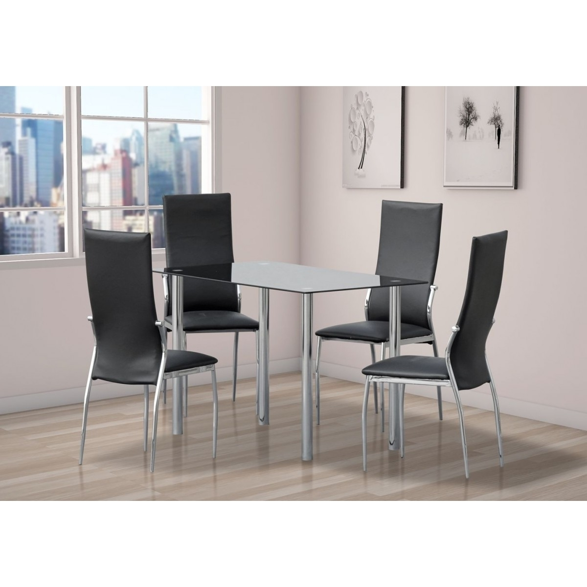 Glass Dining Table With 4 Or 6 Chairs – Home Done Inside Newest Glass Dining Tables 6 Chairs (View 22 of 25)