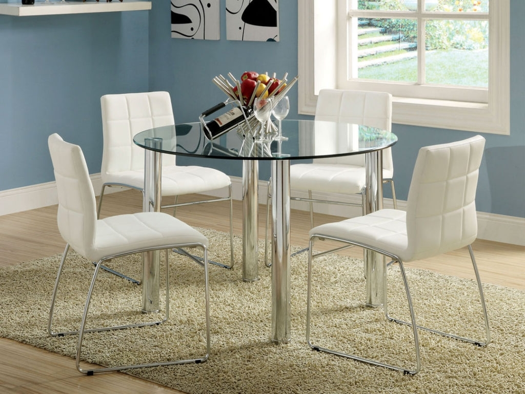 Glass Dining Tables Sets For Popular Kitchen : Table Glass Glass Top Dining Room Sets Glass Dining Room (Gallery 21 of 25)