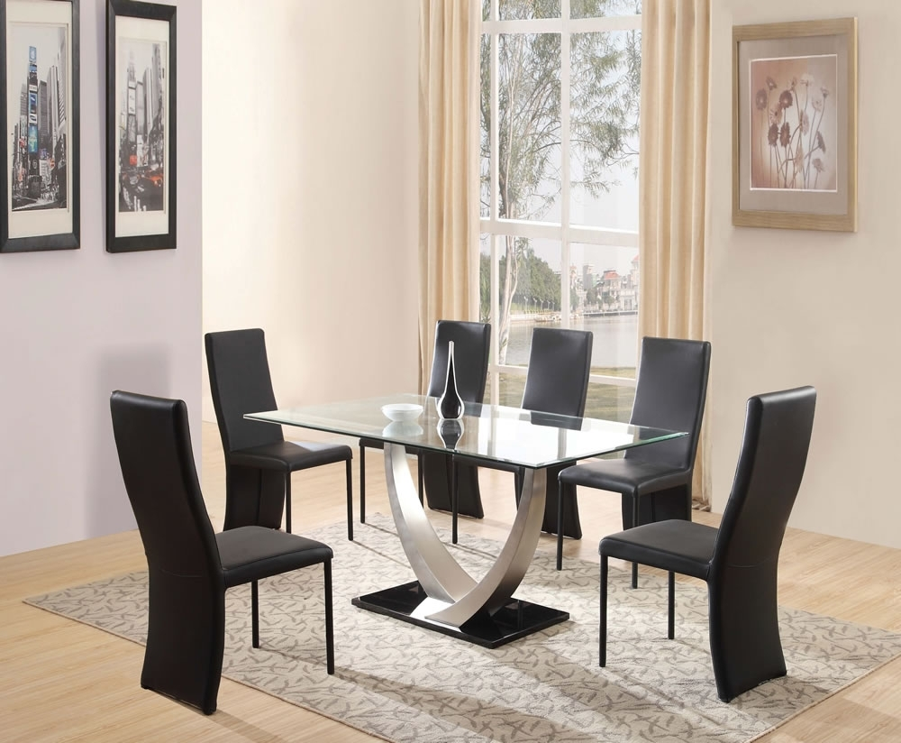 Glass Dining Tables Sets Within Favorite Glass Dinner Table Set Glass Dinner Table Set (View 15 of 25)