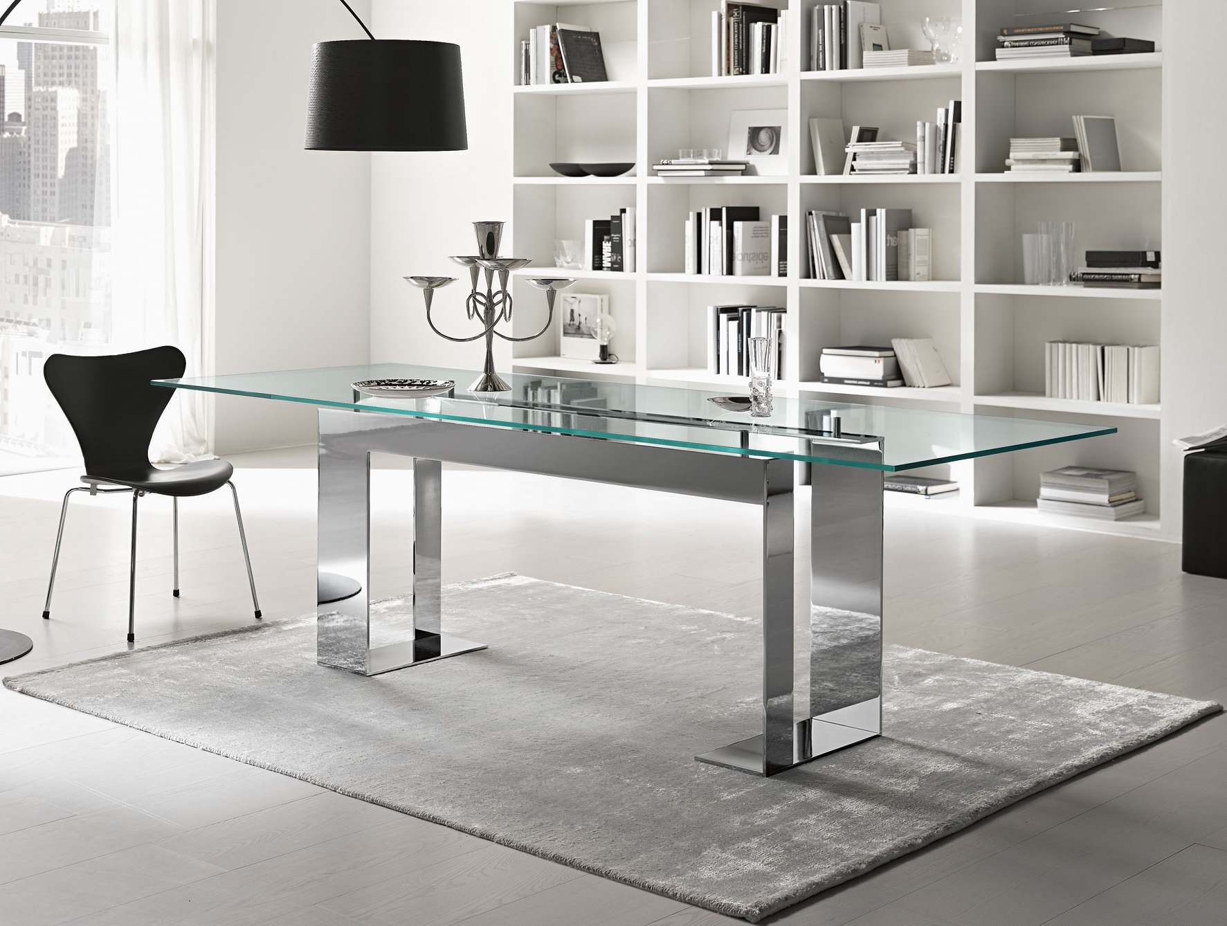 Glass Dining Tables With Regard To Most Recently Released Nella Vetrina Tonelli Miles Contemporary Italian Glass Dining Table (Gallery 18 of 25)