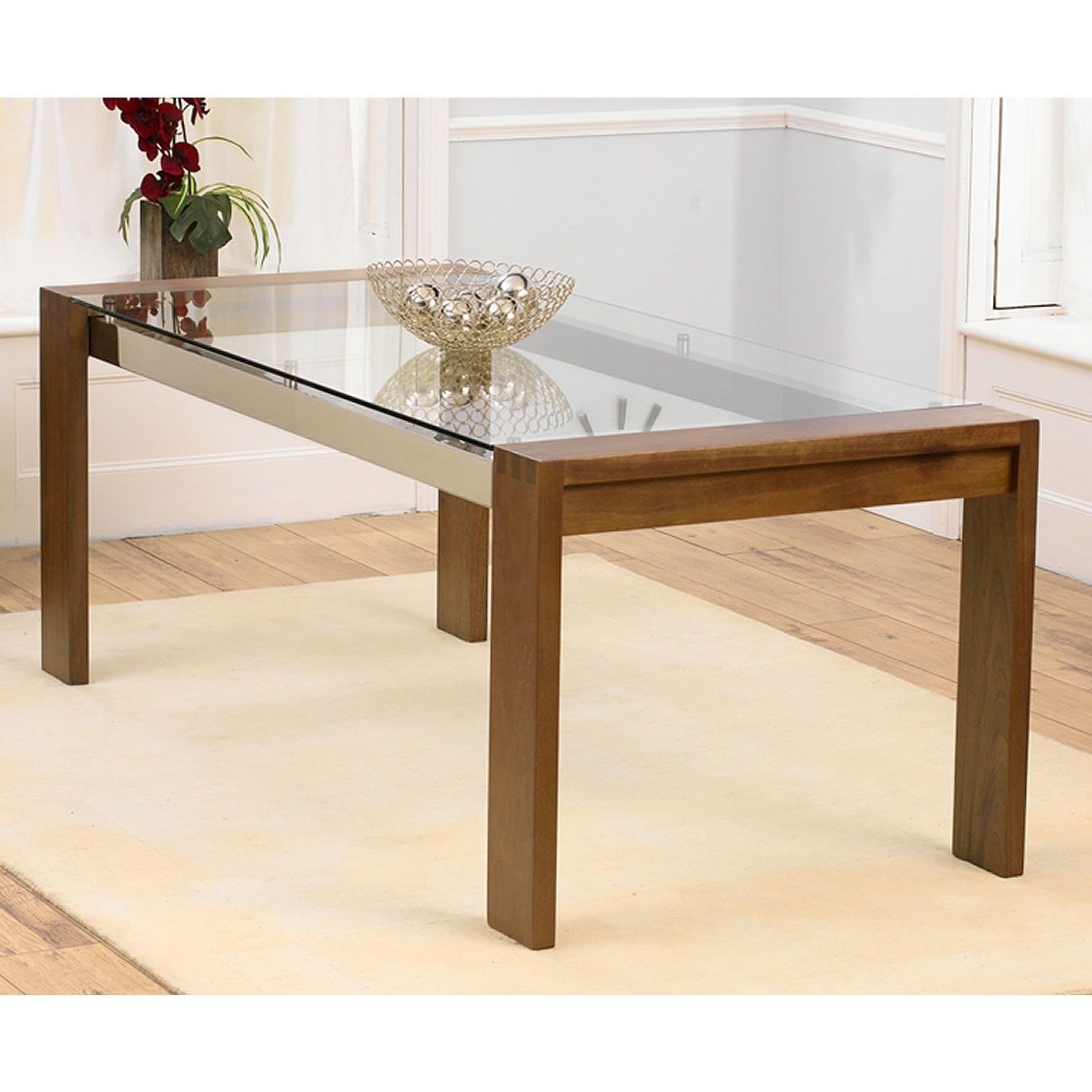 Glass Dining Tables With Wooden Legs In Well Known Image Result For Wooden Legs Glass Table Top (View 2 of 25)
