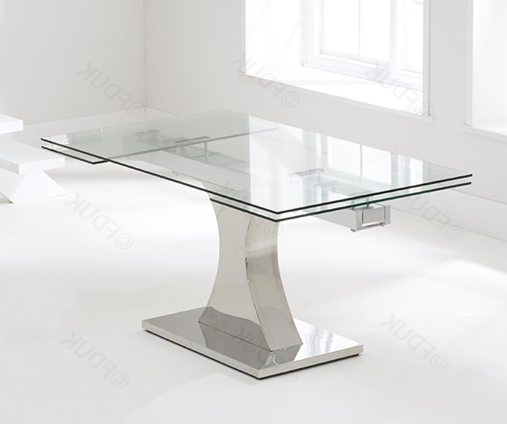 Glass Extending Dining Tables For Popular Mark Harris Amber Glass Extending Dining Table Only Fduk Best Price  Guarantee We Will Beat Our Competitors Price! Give Our Sales Team A Call On  0116 (Gallery 21 of 25)