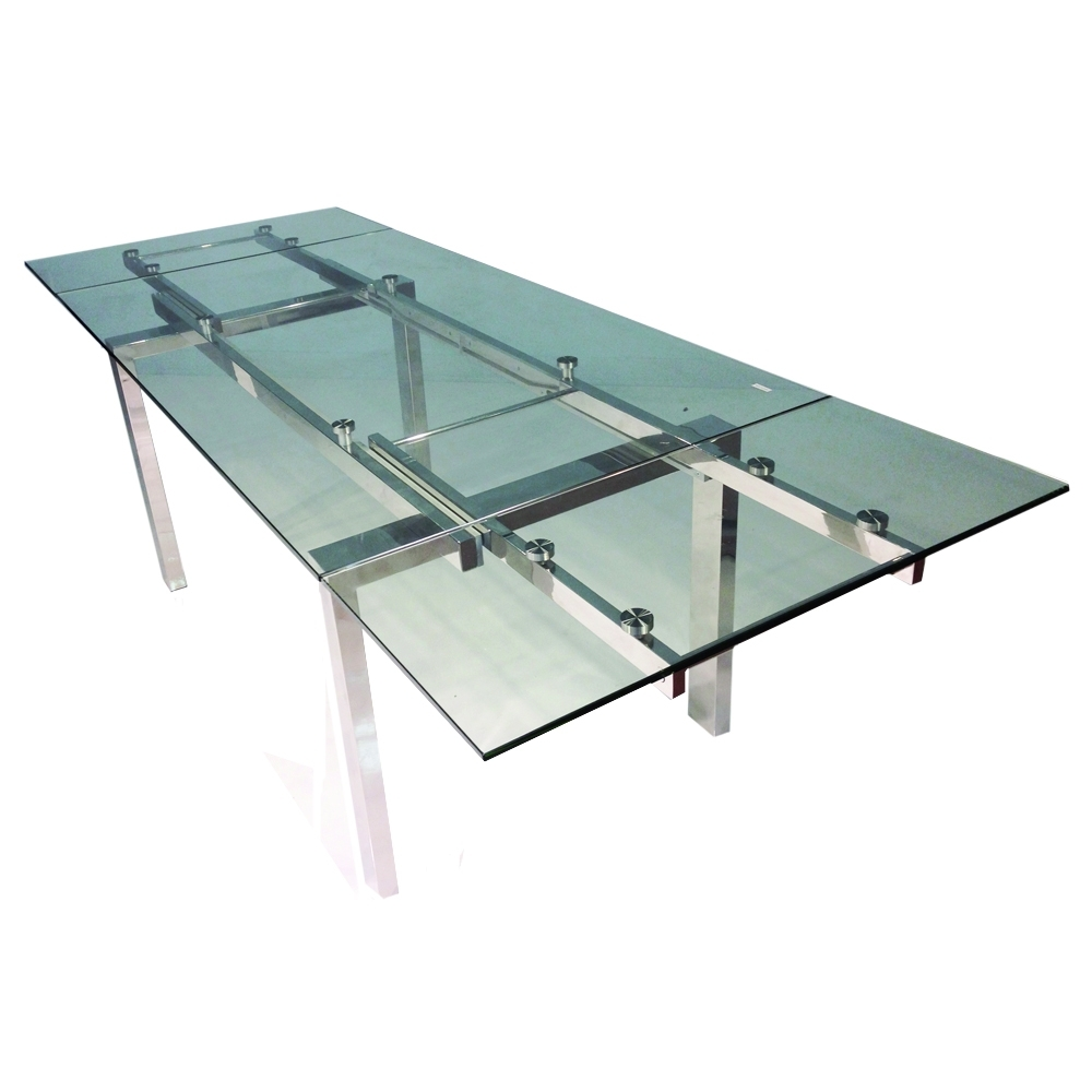 Glass Extending Dining Tables In Best And Newest Cantro Glass Extending Dining Table (Gallery 11 of 25)