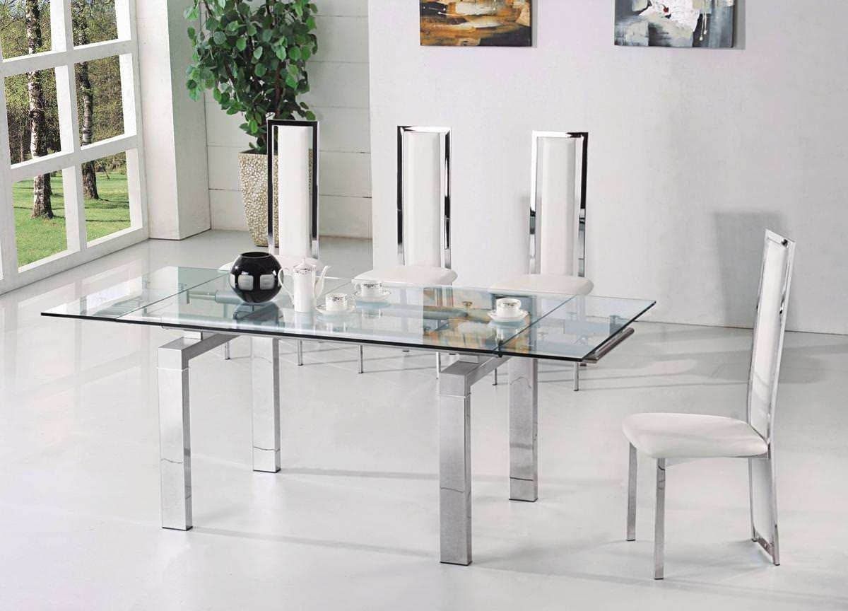 Glass Folding Dining Tables Within Widely Used Eve Glass Extending Dining Table Range Youtube In Extendable Dining (Gallery 4 of 25)
