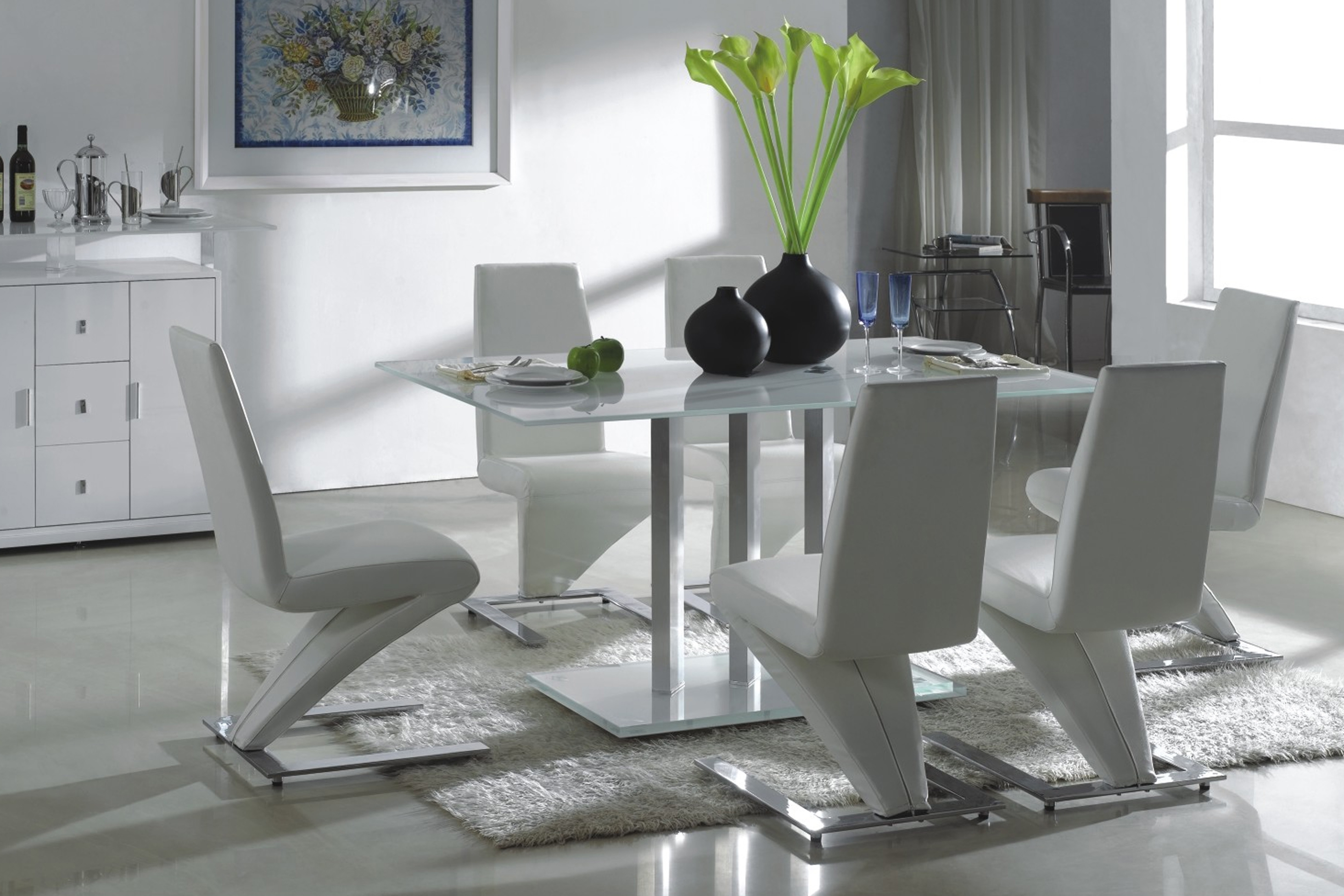 Glass Sophia Round Dining Table Dining Set Tempered Glass Table With For Popular Ikea Round Glass Top Dining Tables (View 5 of 25)