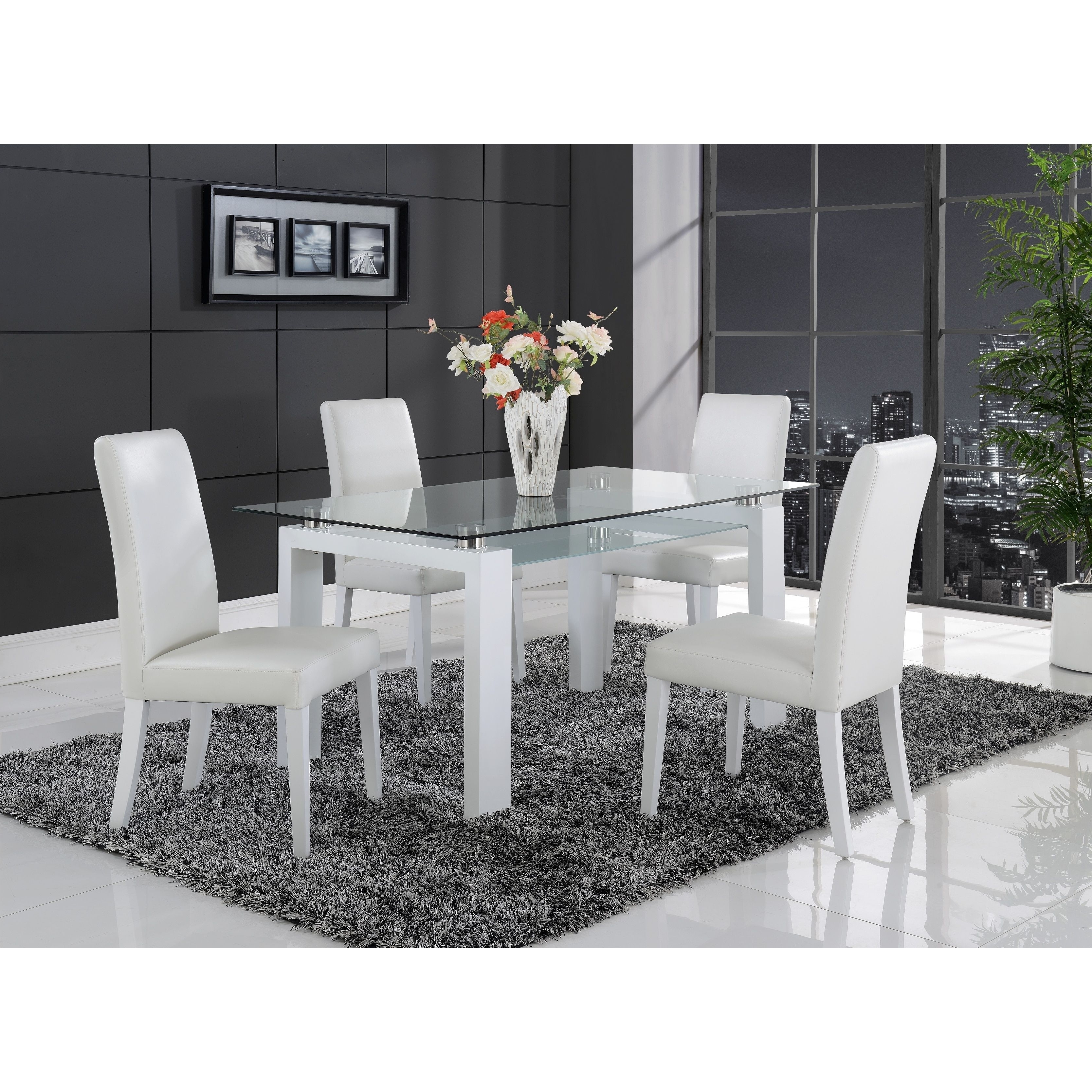 Glass Top Dining Table with Most Recently Released Dining Tables With White Legs And Wooden Top