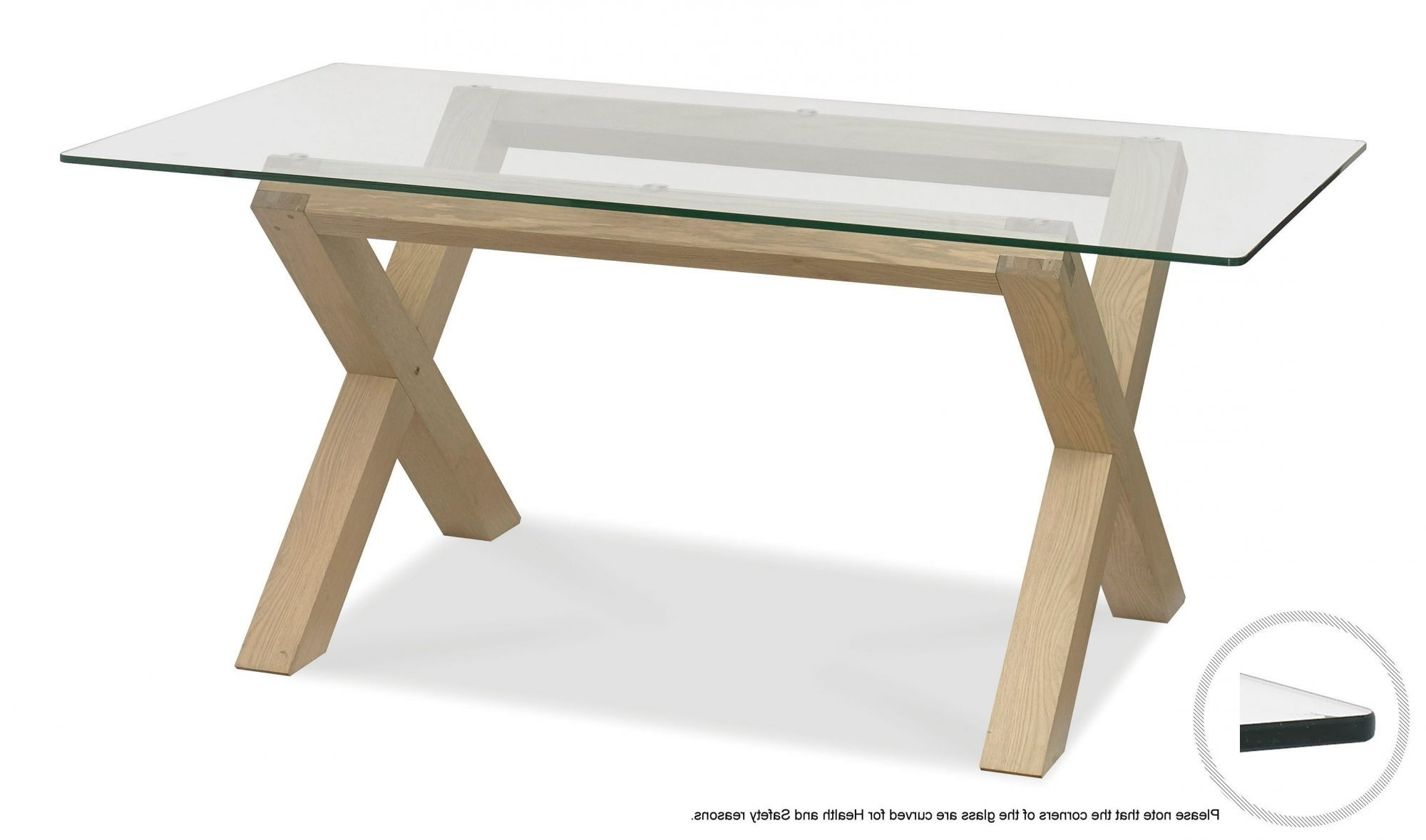 Glass Top Oak Dining Tables Intended For Well Liked Kitchen And Dining Tables, Rectangular And Round Kitchen And Dining (View 6 of 25)