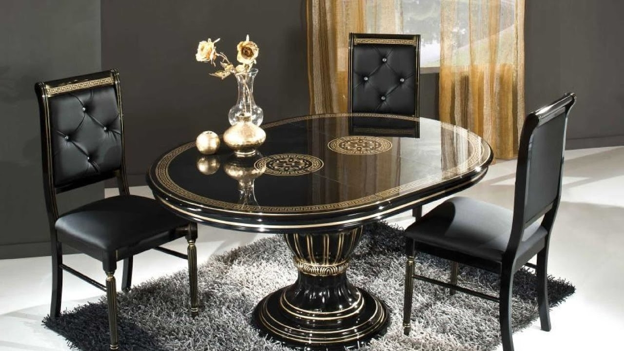 Glasses Dining Tables Within Well Known Dining Table Designs With Glass Top – Youtube (Gallery 17 of 25)