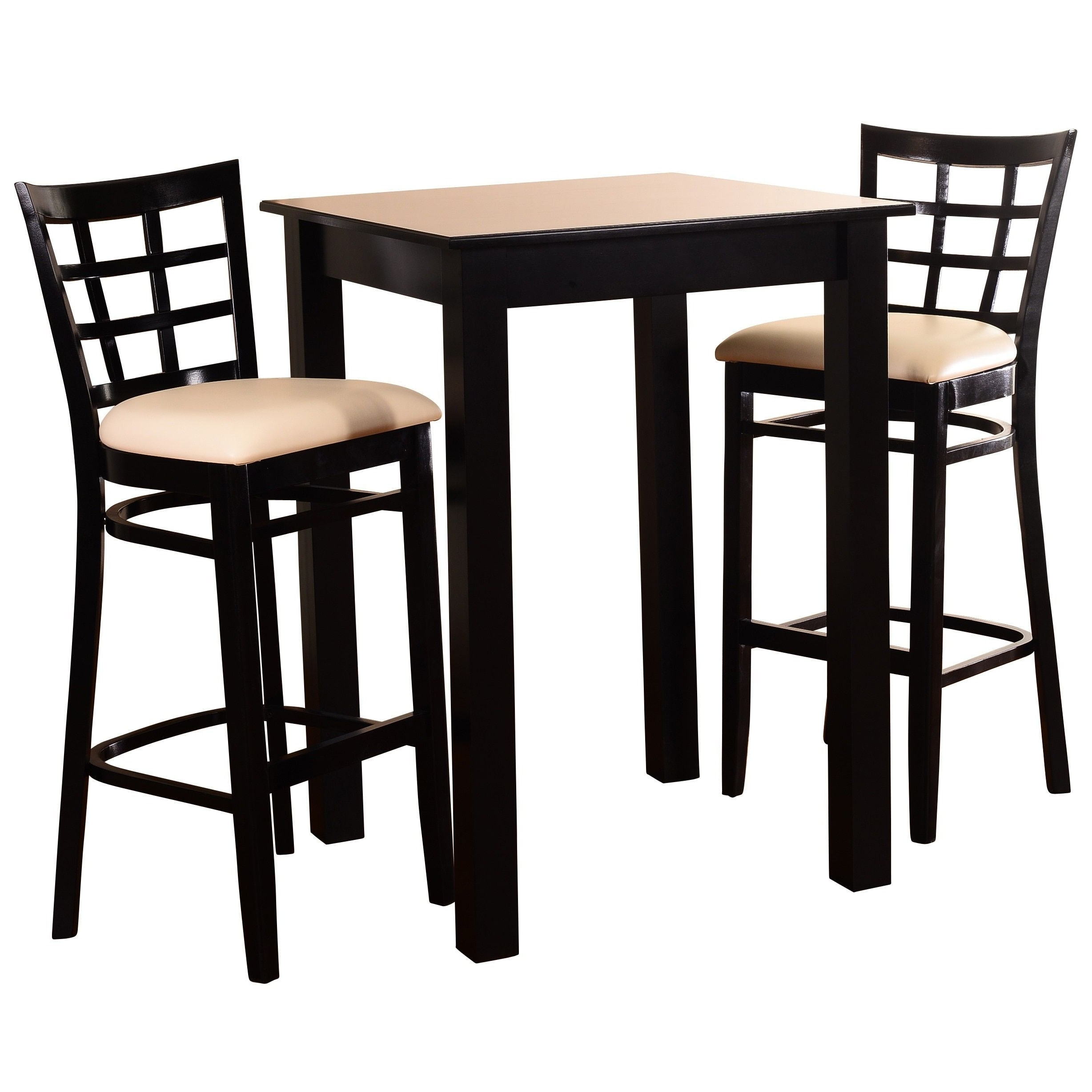 Global Furniture Bar Table Black Throughout Widely Used Jaxon Grey 5 Piece Extension Counter Sets With Fabric Stools (View 5 of 25)
