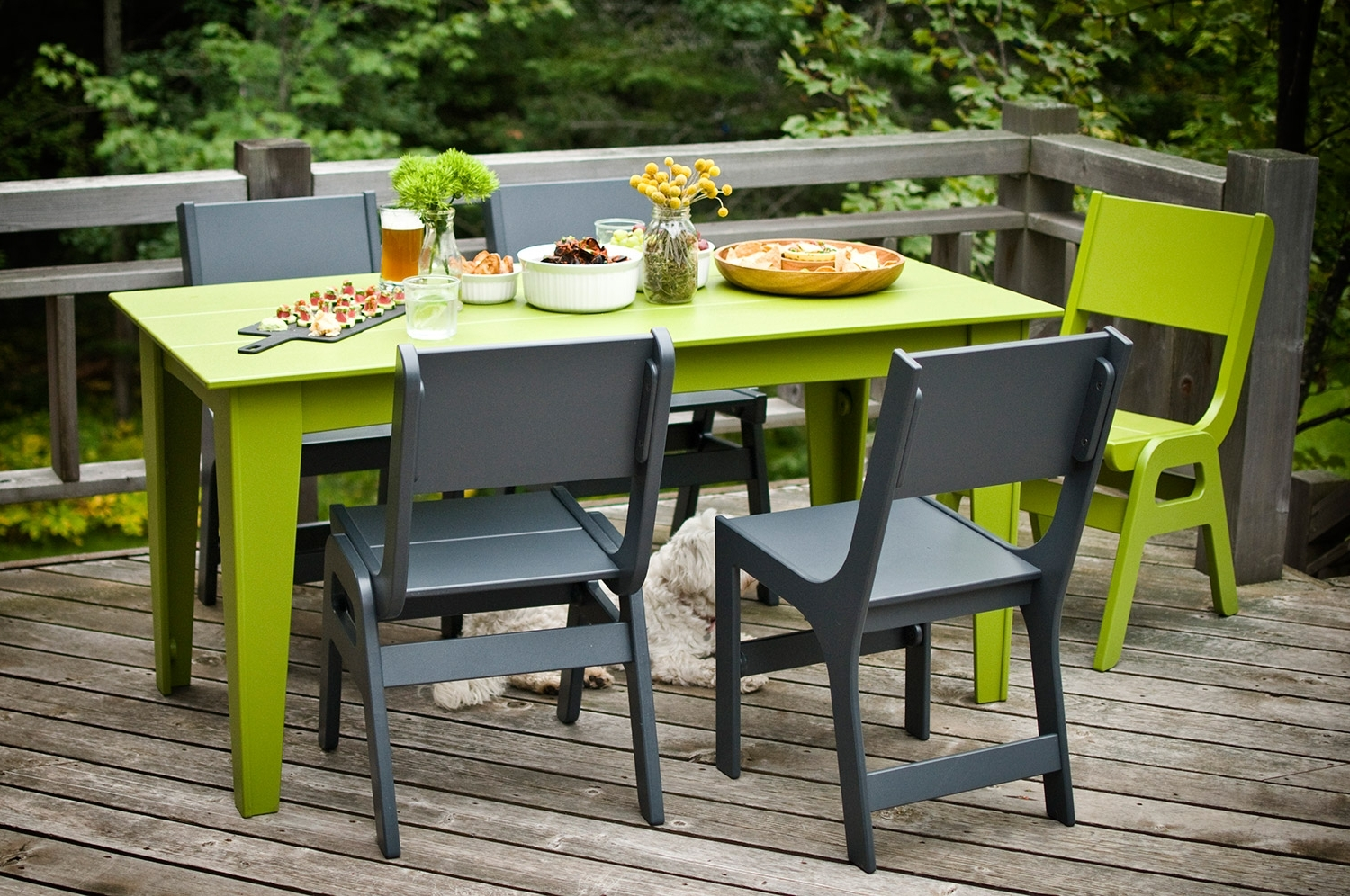 "Green Dining Tables Regarding 2018 72"" Contemporary Outdoor Dining Table (Gallery 9 of 25)"