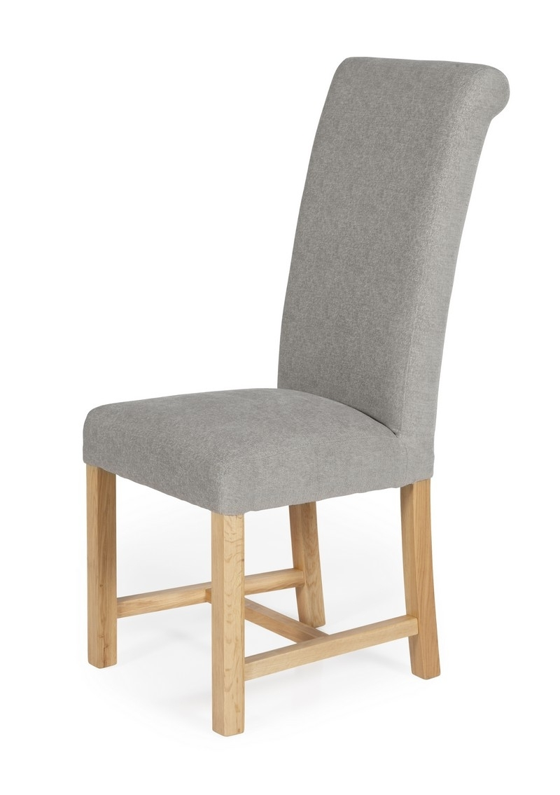 Greenwich Plain Silver Grey Chenille Fabric Dining Chairs In Recent Fabric Dining Chairs (View 17 of 25)