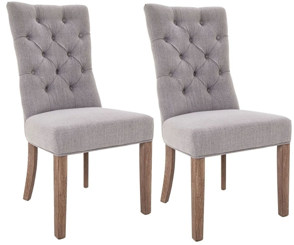 Grey Dining Chairs throughout Preferred Buy Rv Astley Grey Linen Dining Chair (Pair) Online - Cfs Uk