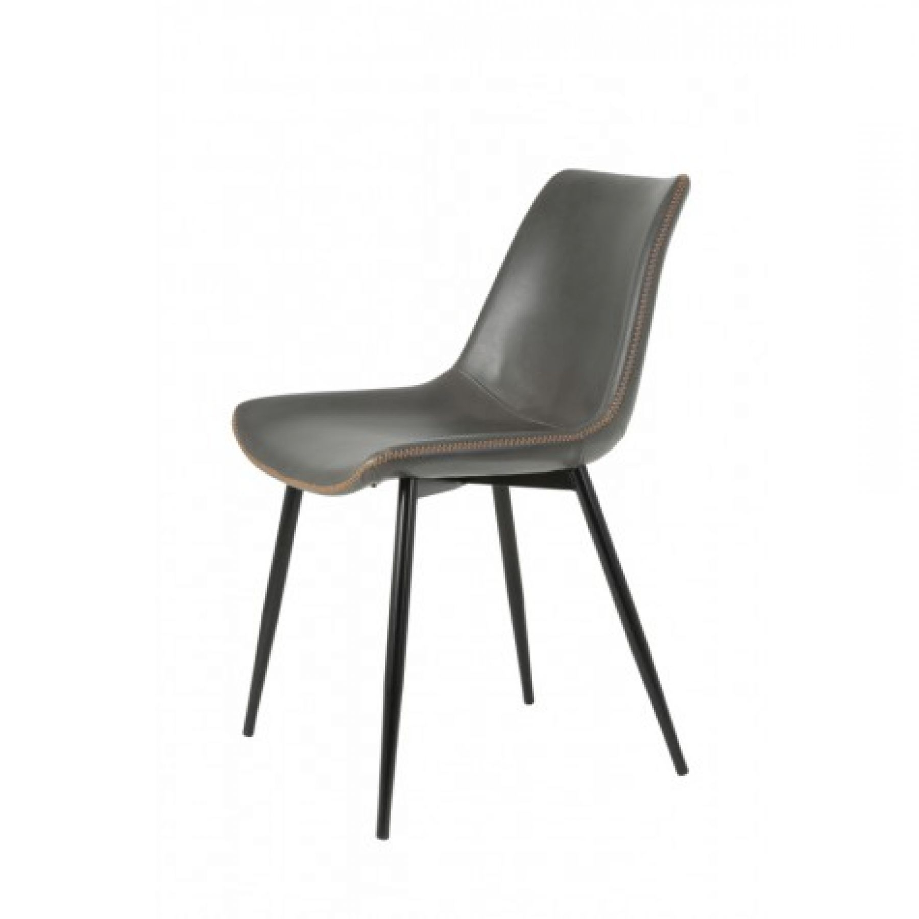 Grey Leather Dining Chairs regarding Newest Magazzino Lexington Grey Faux Leather Dining Chair - Magazzino