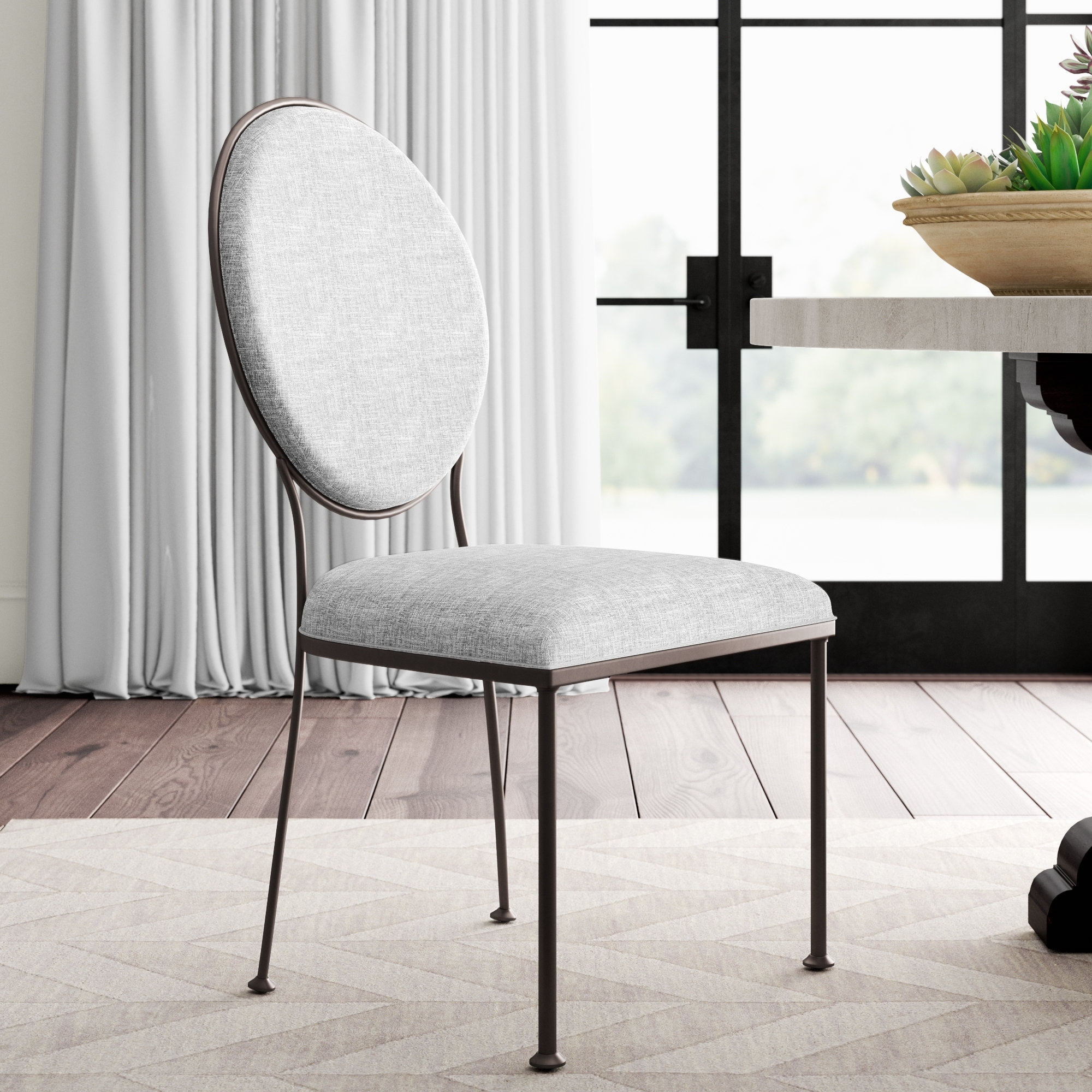 Greyleigh Cairo Oval Back Upholstered Dining Chair (View 17 of 25)