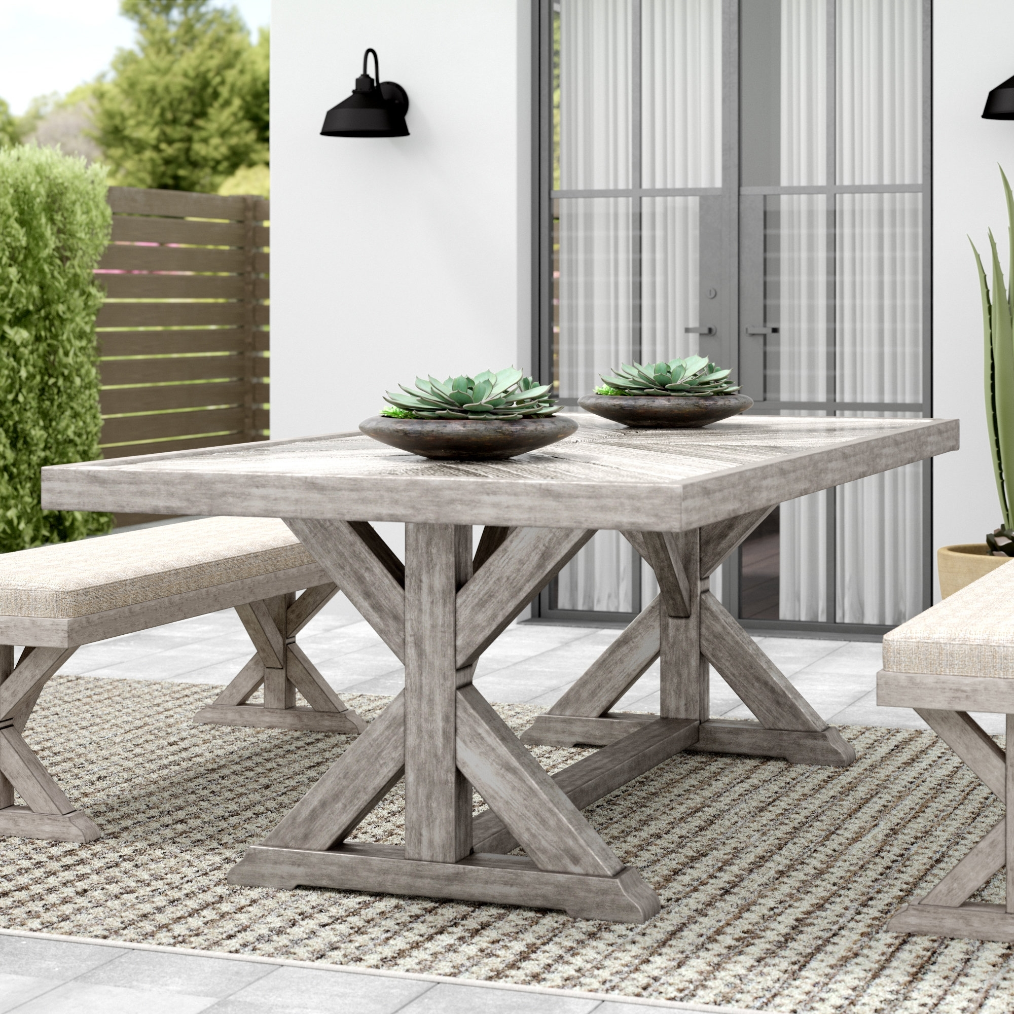 Greyleigh Farmersville Aluminum Dining Table & Reviews (View 21 of 25)
