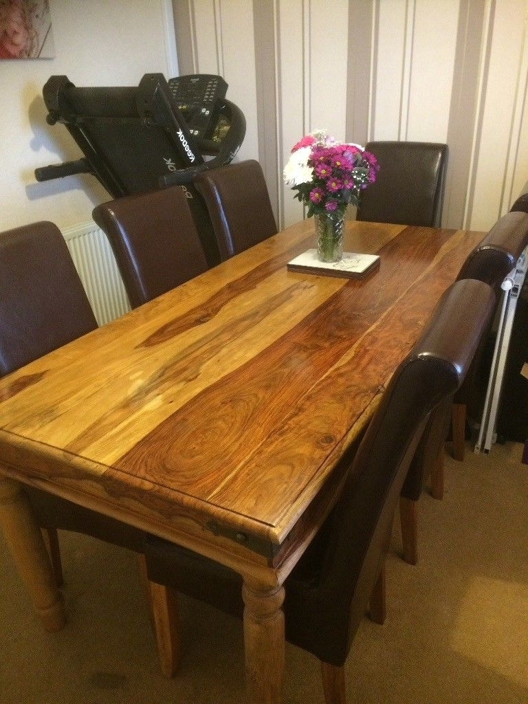 Gumtree Inside 2017 Sheesham Dining Tables 8 Chairs (View 21 of 25)