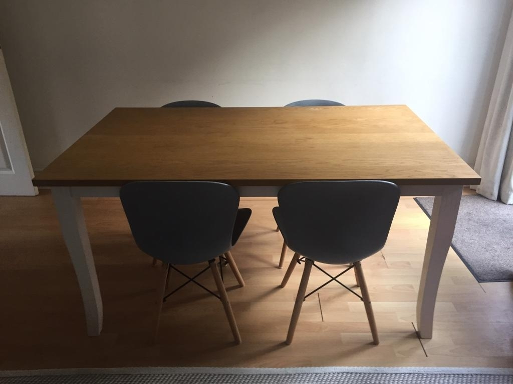 Gumtree Regarding Widely Used Dining Tables Grey Chairs (View 16 of 25)