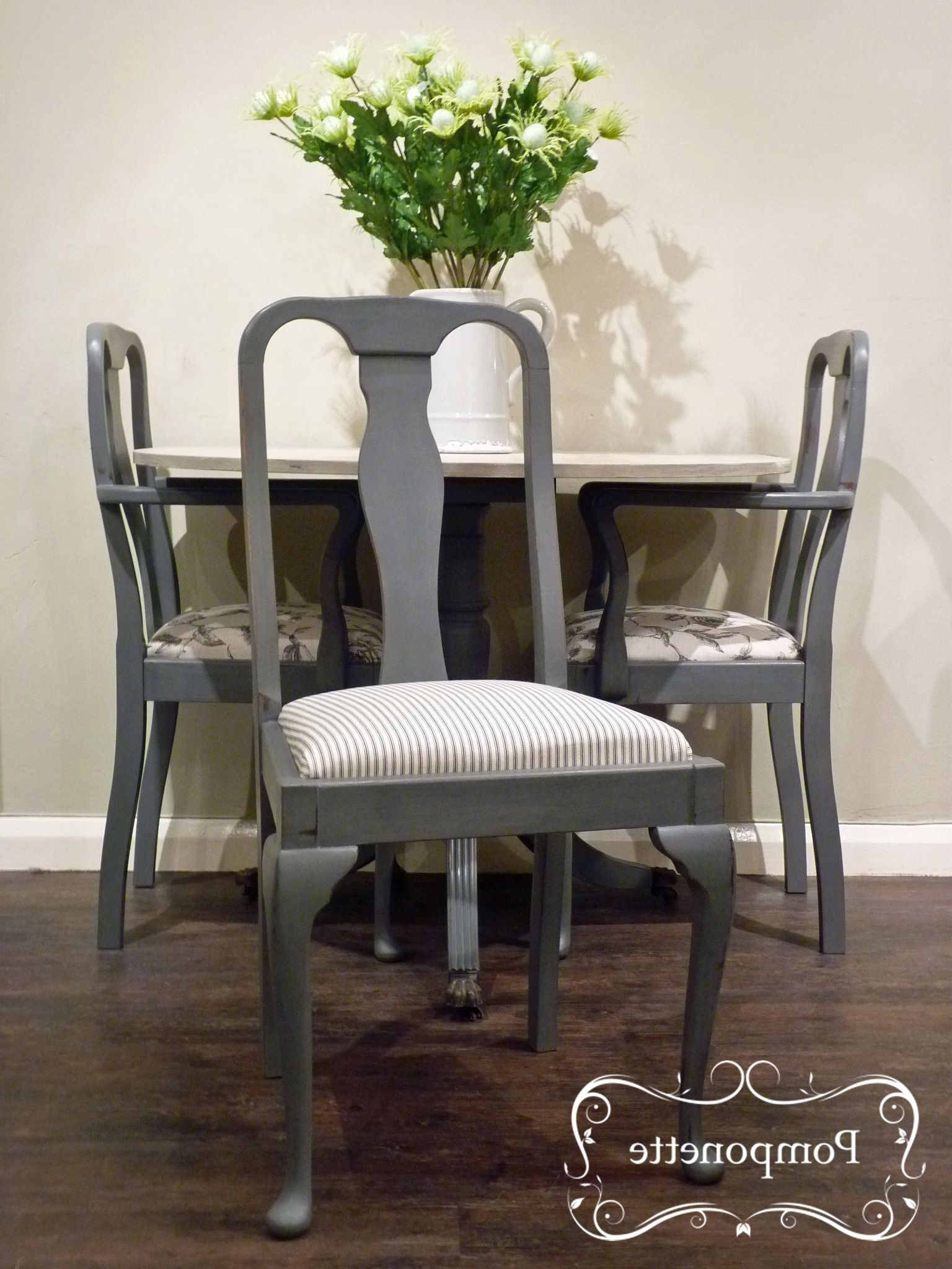 Half Moon Dining Table Sets regarding Most Popular Former Red Mahogany Table Made Into A Half Moon Dining Set With 3