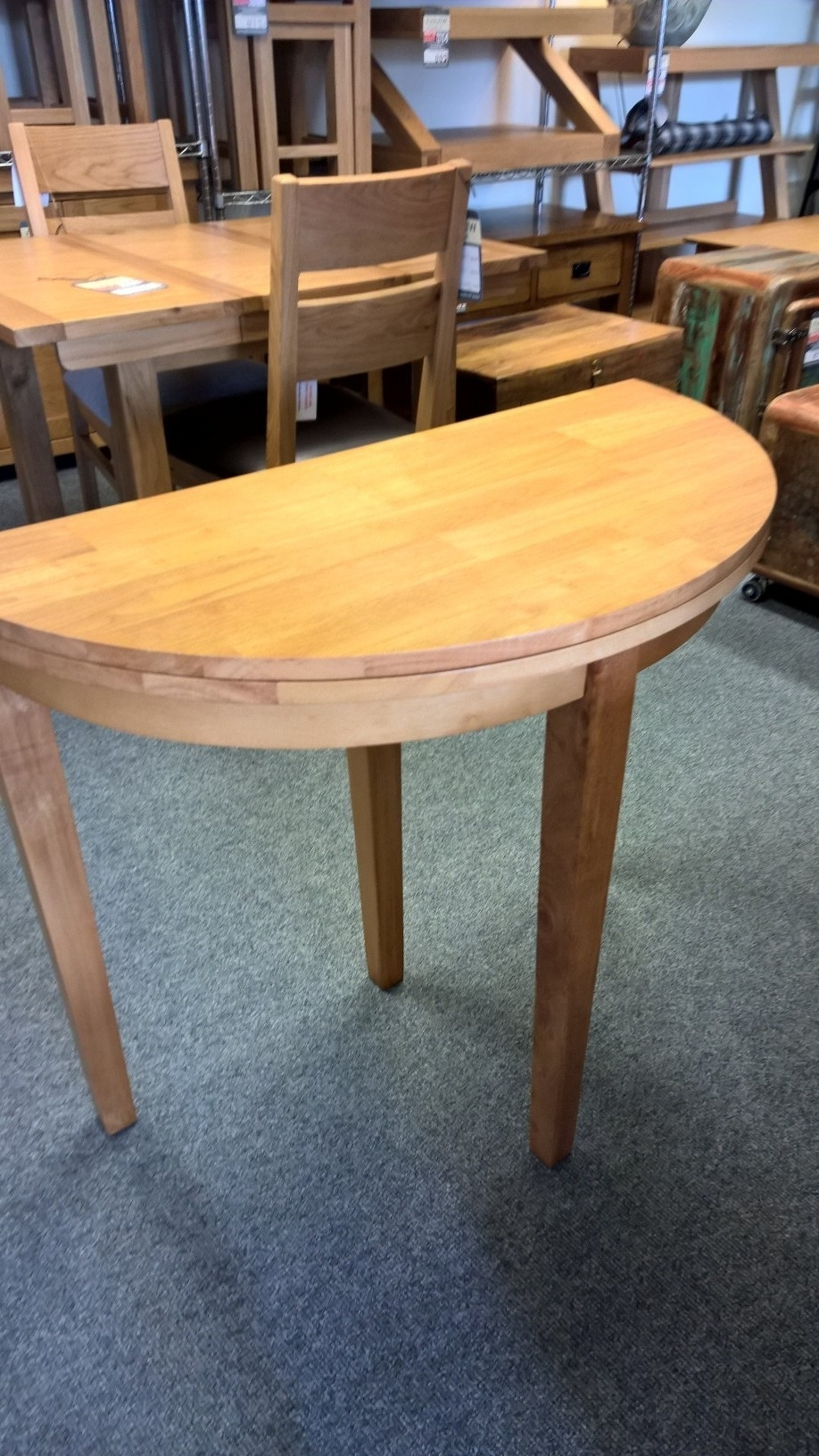 Half Moon Dining Table Sets With Most Current Babett Half Moon Extending Dining Table (View 7 of 25)