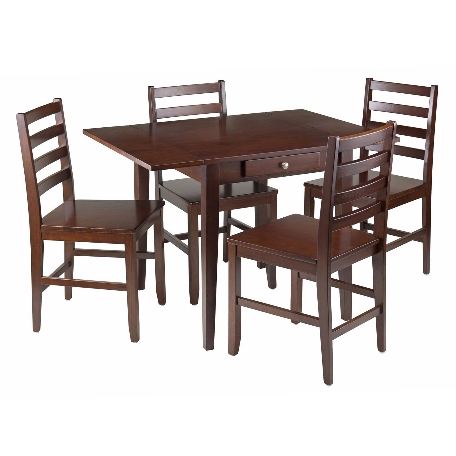 Hamilton Dining Tables For 2017 Hamilton 5 Pc Drop Leaf Dining Table With 4 Ladder Back Chairs (View 19 of 25)