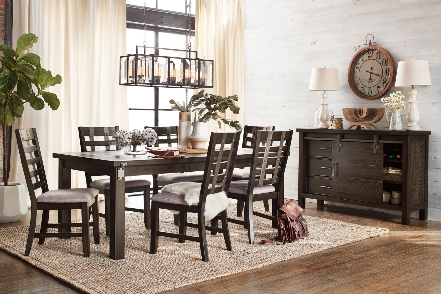 Hampton Dining Table And 6 Side Chairs – Cocoa (Gallery 23 of 25)