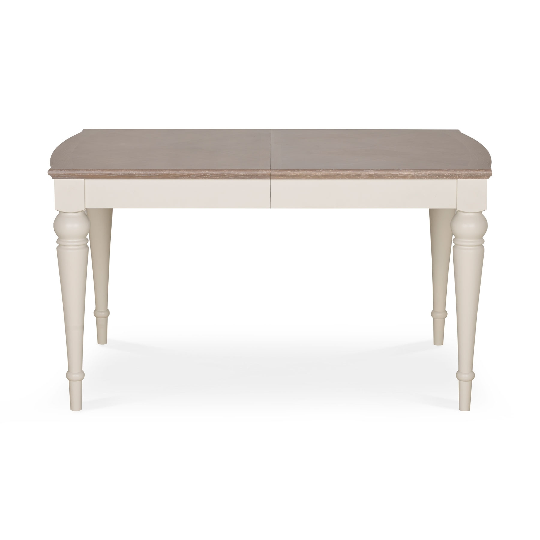 Hampton Grey Wash Oak Small Extending Dining Table Inside Fashionable Small Extending Dining Tables And Chairs (View 14 of 25)