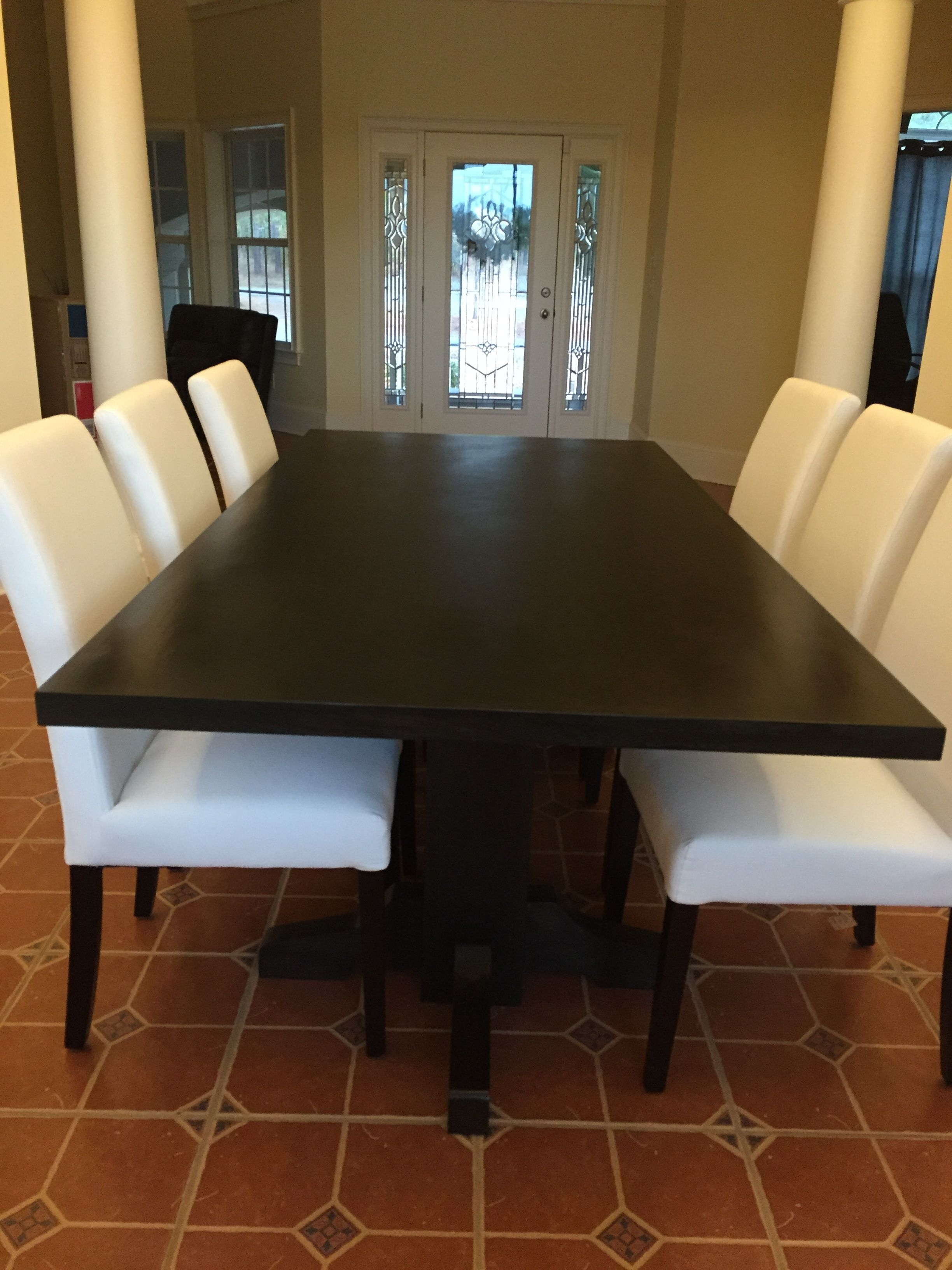 Hand Made Black Walnut Dining Table- Extra Dark Espresso Stain intended for Favorite Dark Dining Tables