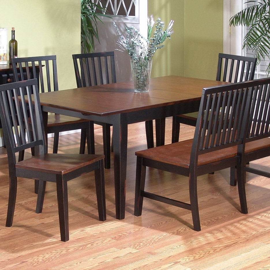 Handmade Farmhouse Brown Wooden Dining Table And Rustic Oak Dining intended for Well-liked Dark Brown Wood Dining Tables