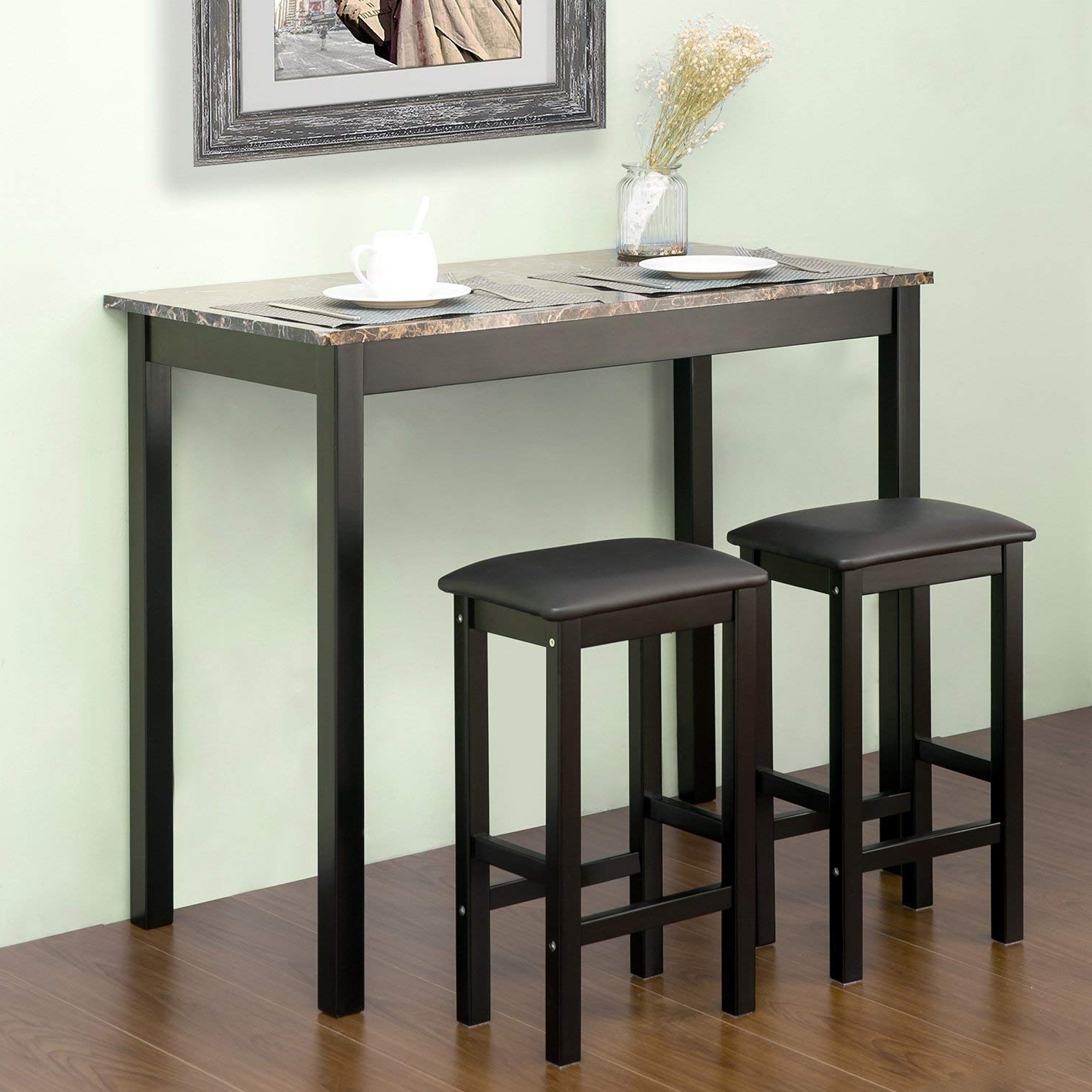 Harper 5 Piece Counter Sets Within Newest Amazon: Harper & Bright Designsmerax 3 Piece Pub Table Set (View 16 of 25)