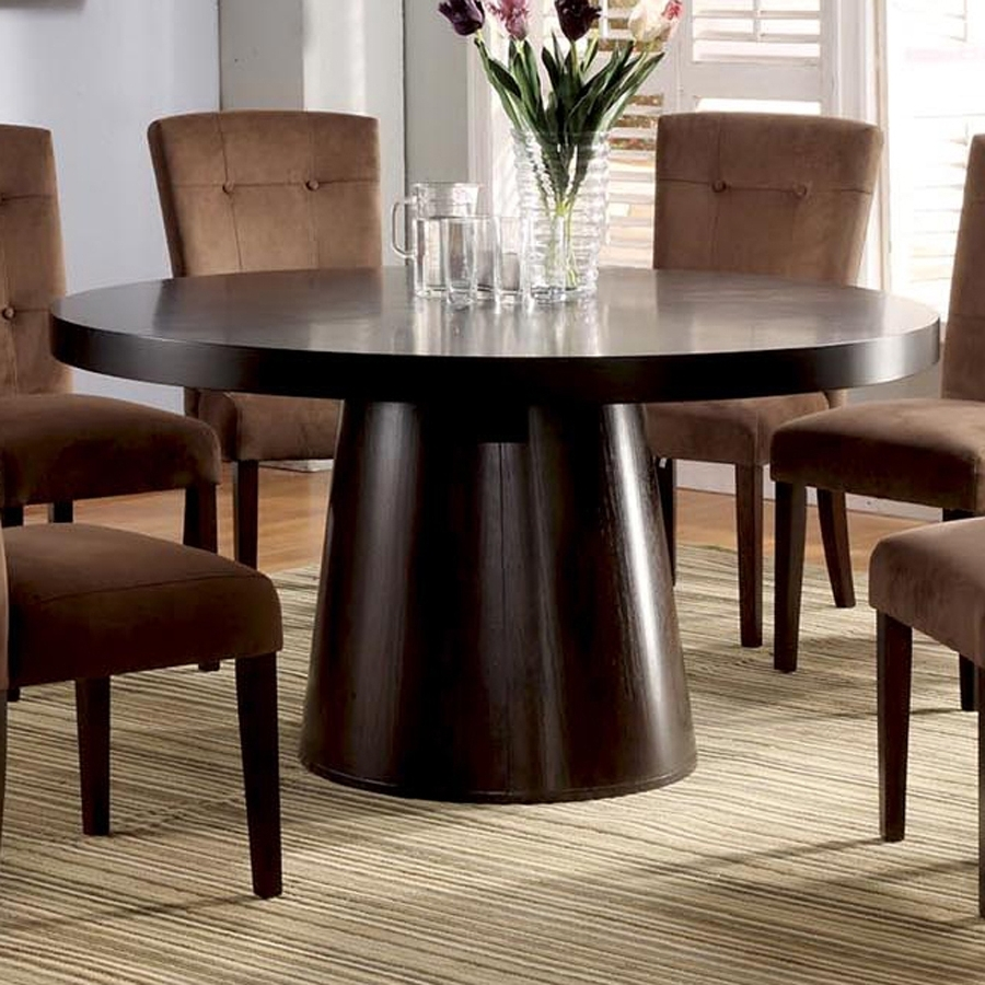 Havana Dining Tables pertaining to Most Current Shop Furniture Of America Havana Espresso Composite Round Dining
