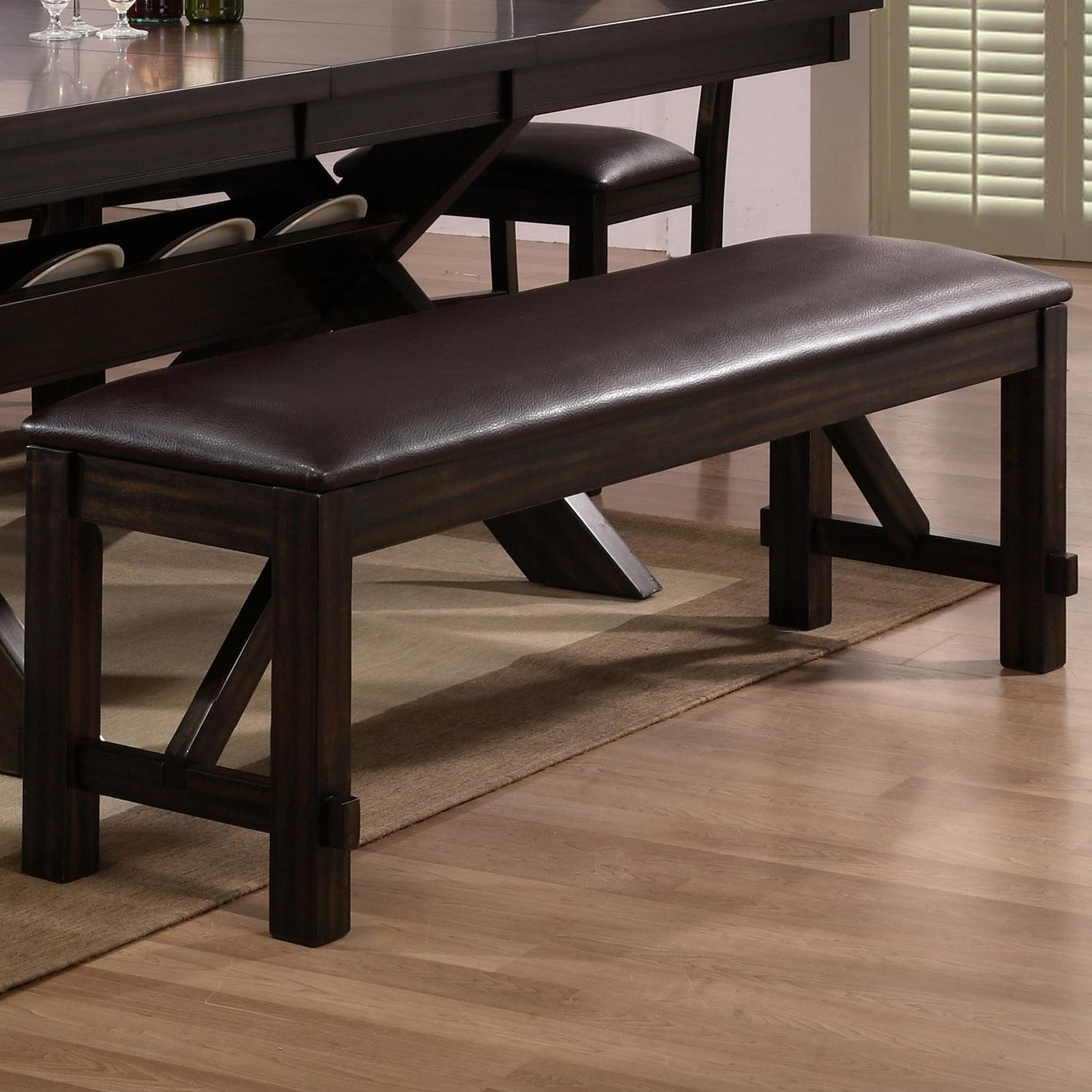 Havana Dining Tables Within Well Known Belfort Essentials Havana Upholstered Dining Bench With Brown Faux (View 13 of 25)