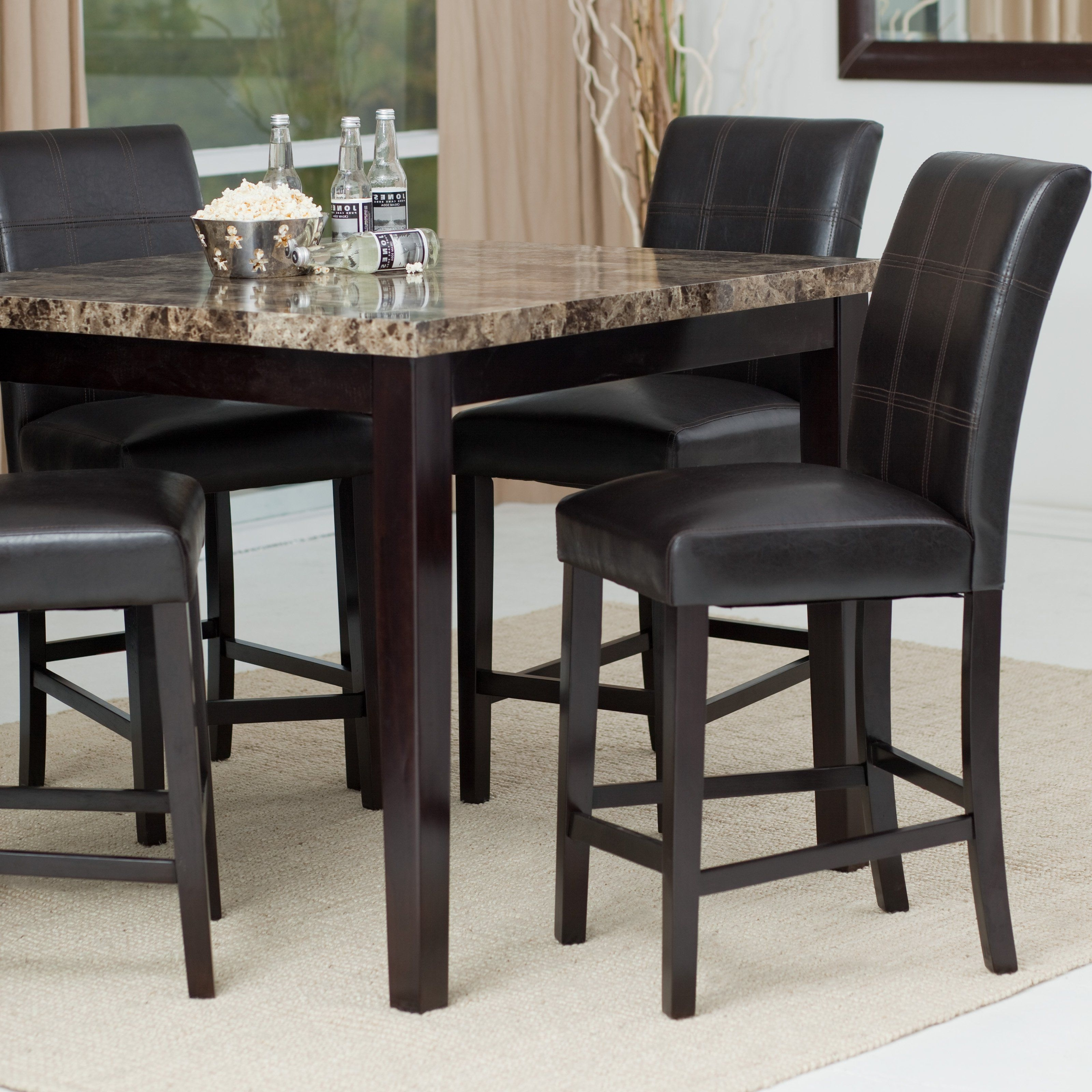Have To Have It. Palazzo 5-Piece Counter Height Dining Set - $429.98 for Recent Palazzo Rectangle Dining Tables