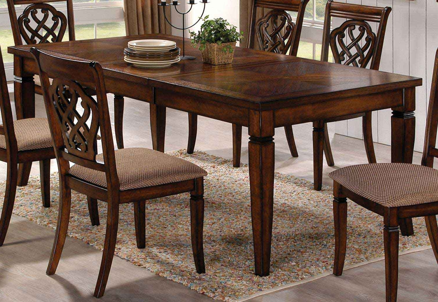 Hayden Dining Tables Pertaining To Trendy Coaster Hayden Dining Table – Oak 103391 At Homelement (View 7 of 25)