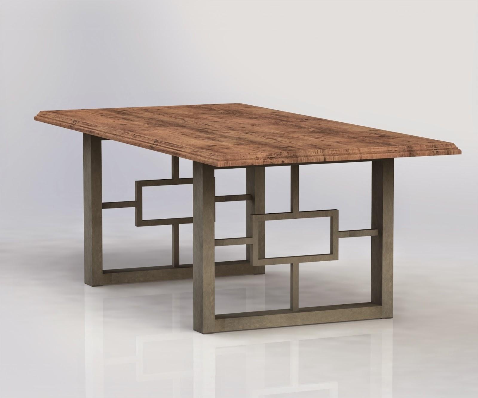 Hayden Dining Tables Regarding Preferred Urban Ironcraft : Hayden Metal Table Legs (View 24 of 25)
