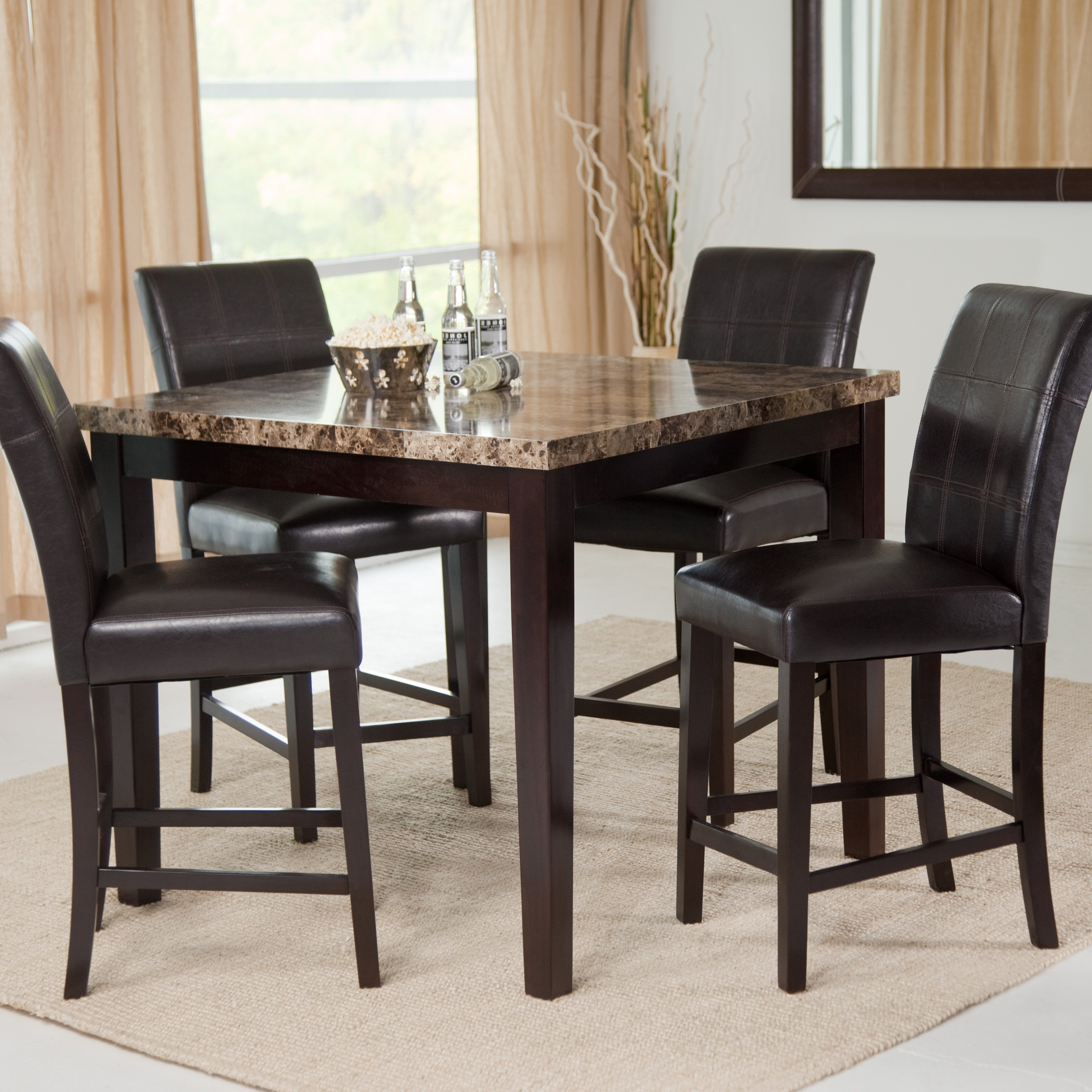 Hayneedle Intended For Palazzo 3 Piece Dining Table Sets (View 8 of 25)