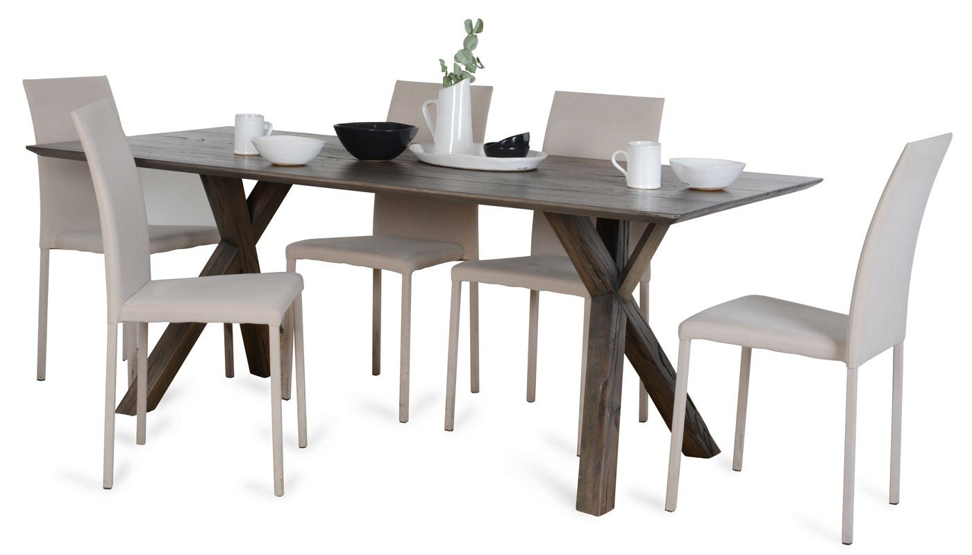 Heal's Arbori Dining Table 4 6 Seater Grey Wash Wild Oak (View 13 of 25)