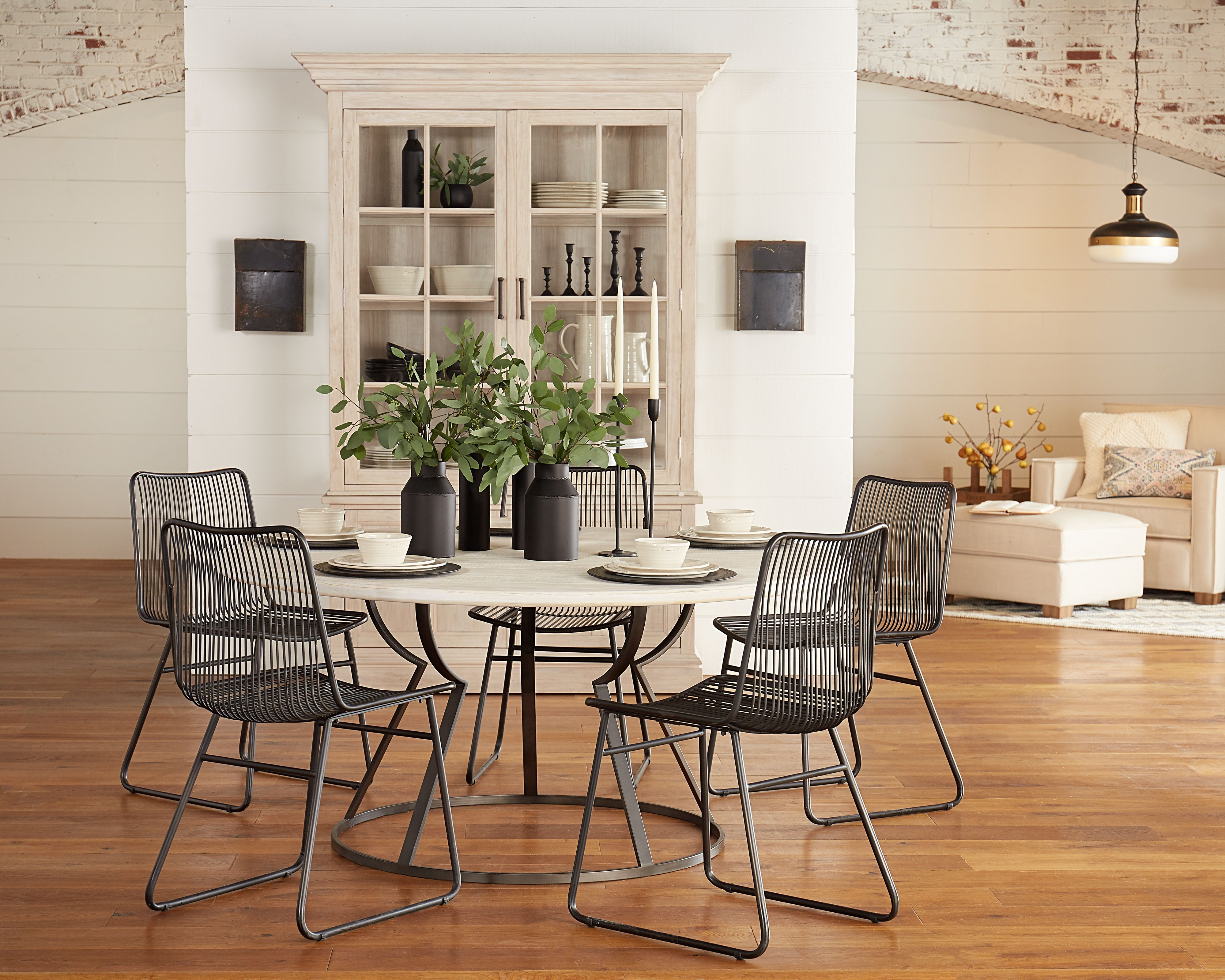 Heart With Magnolia Home Breakfast Round Black Dining Tables (Gallery 14 of 25)