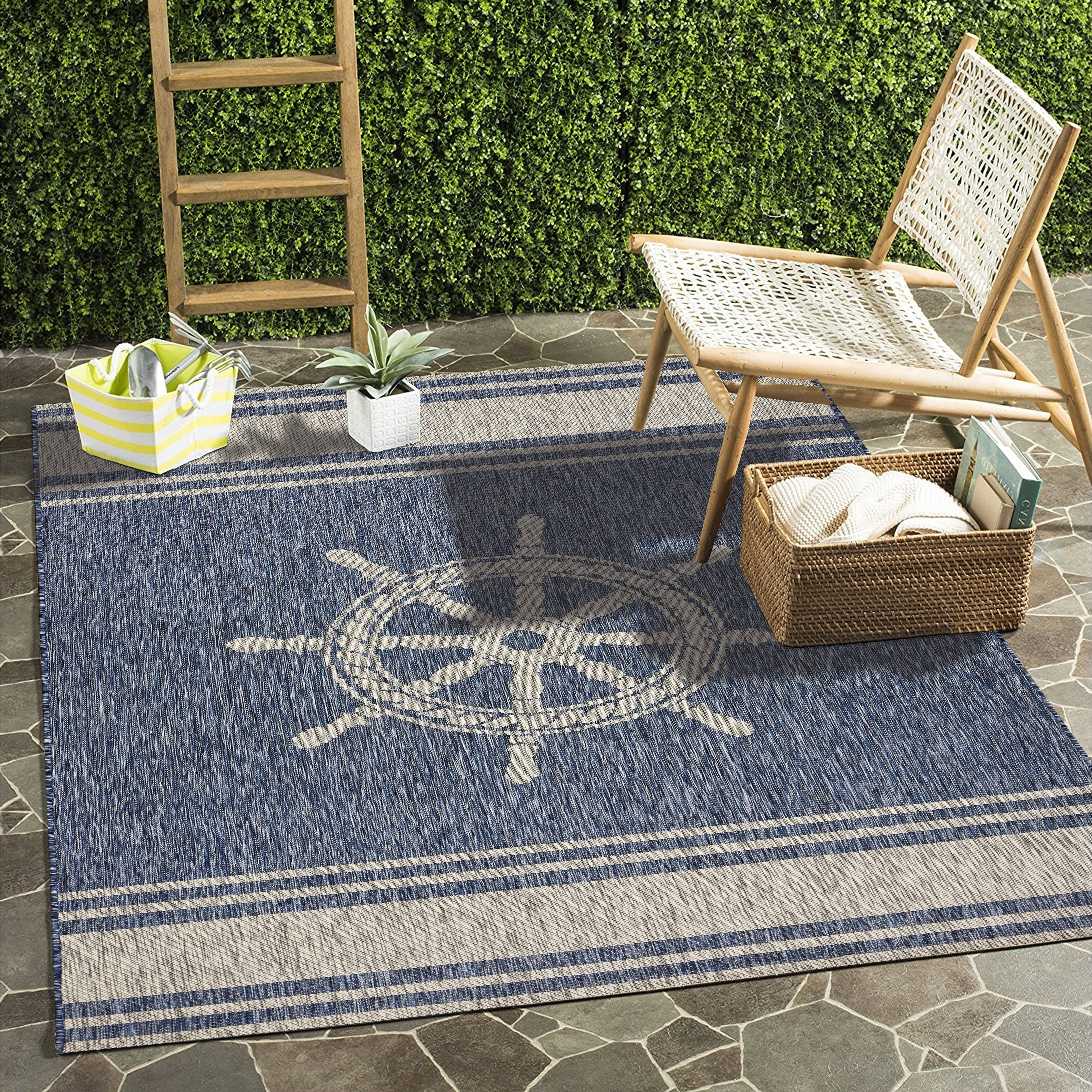 Helms 6 Piece Rectangle Dining Sets Throughout 2017 Shop Lr Home Captiva Nautical Helm Navy/ Gray Polypropylene Rug – 5 (Gallery 14 of 25)