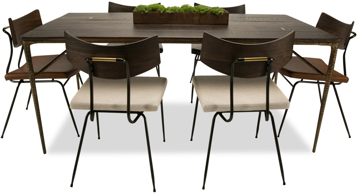 Helms 7 Piece Rectangle Dining Sets With Side Chairs For Most Up To Date Kulu Dining Table (Gallery 21 of 25)
