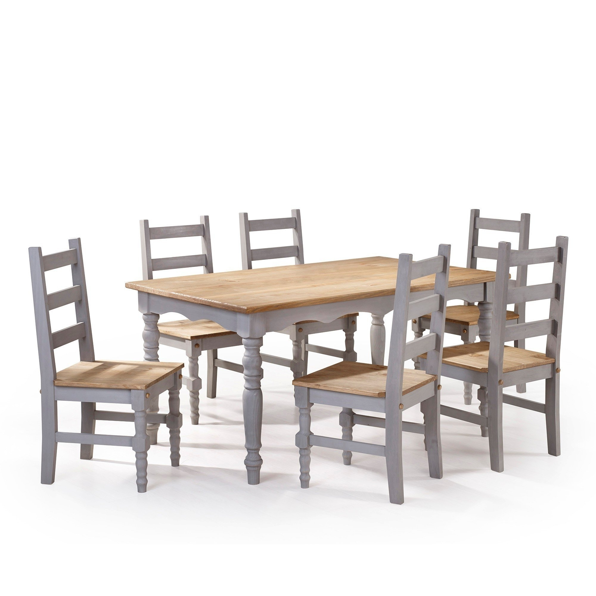 Helms 7 Piece Rectangle Dining Sets With Side Chairs Within Current Shop Manhattan Comfort Jay 7 Piece Solid Wood Dining Set With  (View 4 of 25)