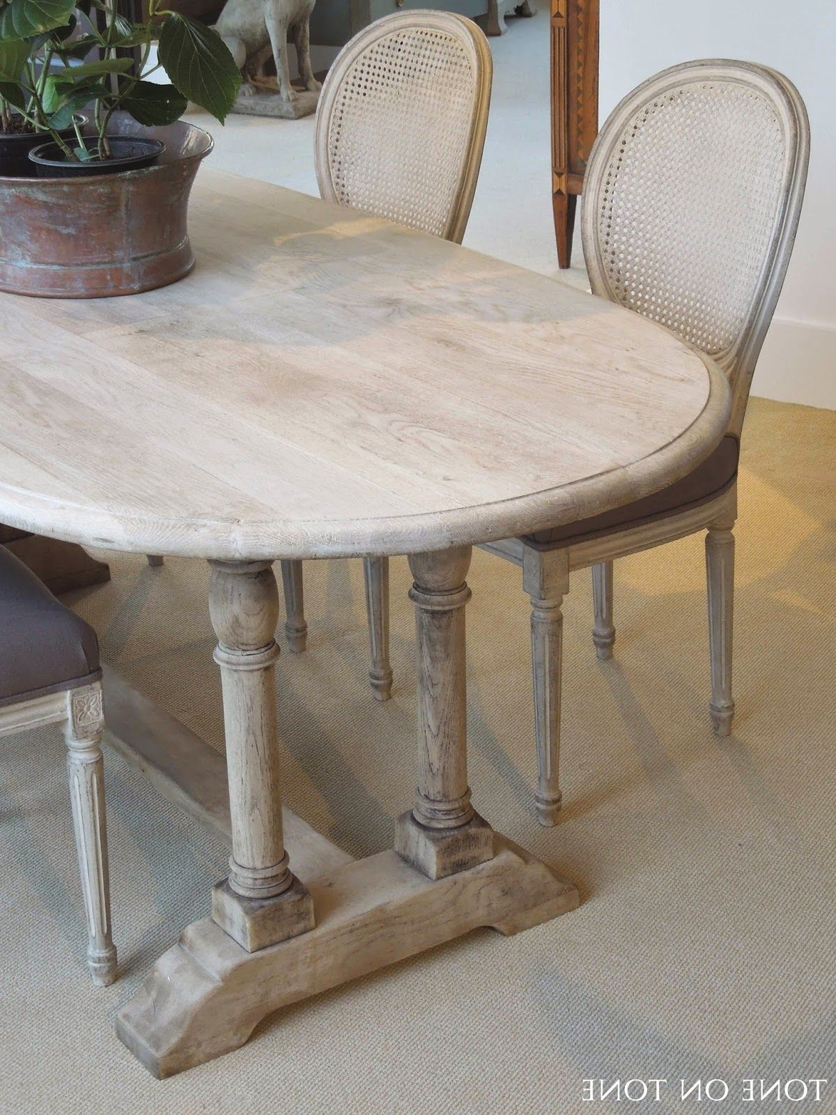 Helms Round Dining Tables throughout Well known Here Is A 19Th Century Belgian Bleached Oak Dining / Kitchen Table