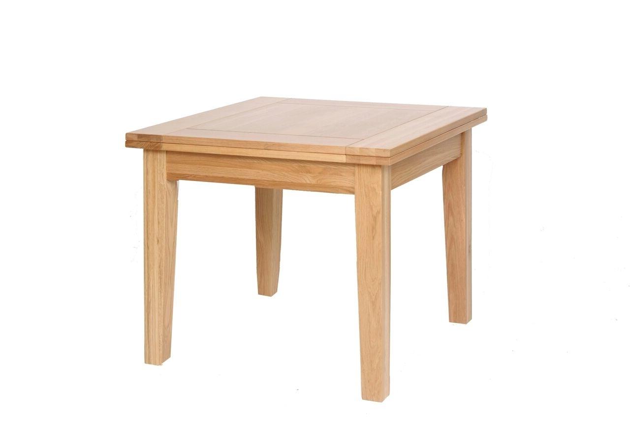 Helmsley Oak - Flip Top Extending Dining Table intended for Famous Flip Top Oak Dining Tables