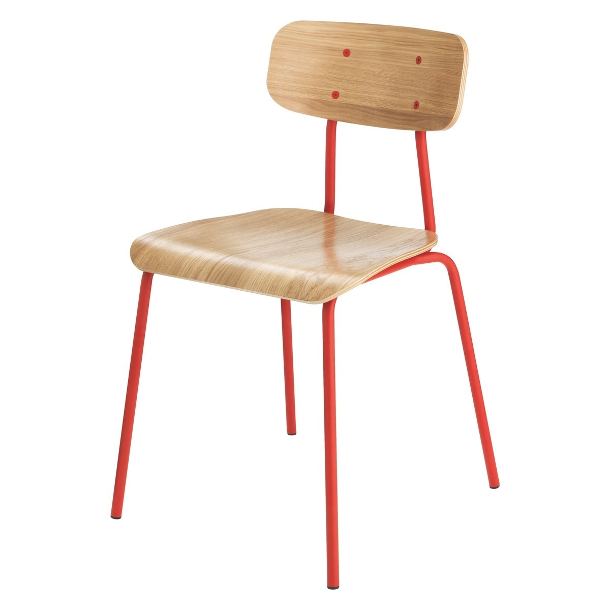 Hester Red Stackable Dining Chair